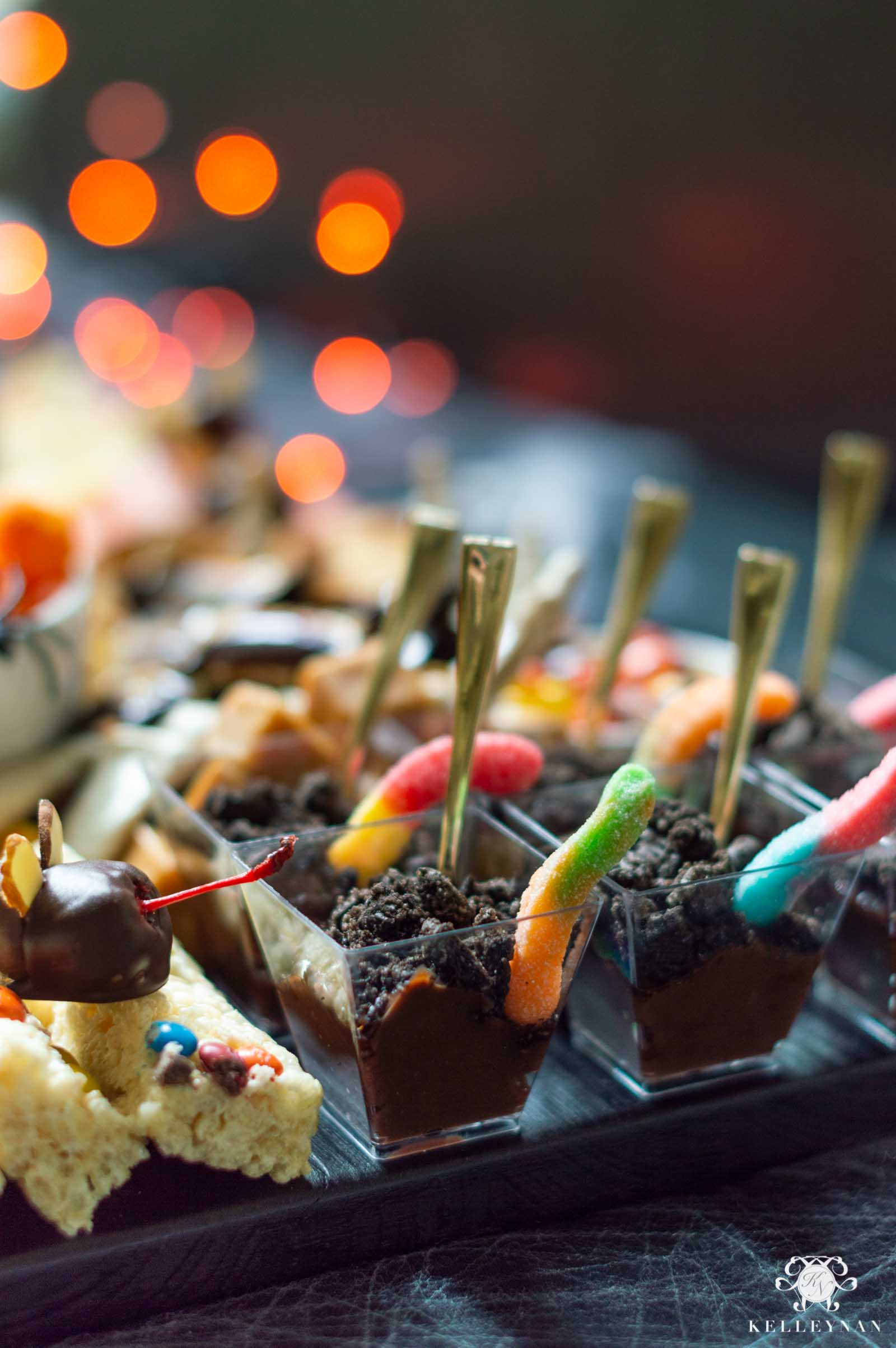 Dirt Cups for Halloween -- the Ultimate Trick or Treat Halloween Charcuterie Board