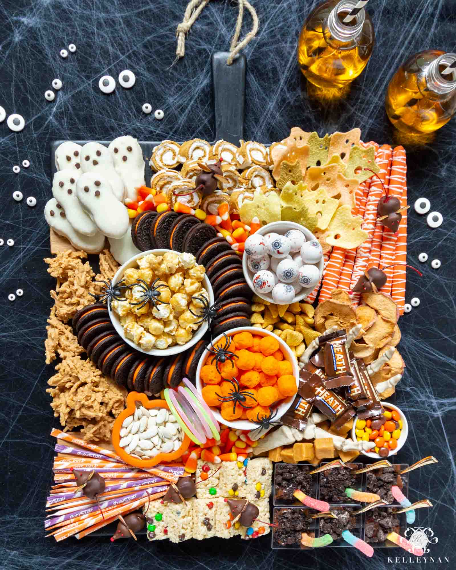The Ultimate Halloween Snack Board -- Trick or Treat and Kid Approved!