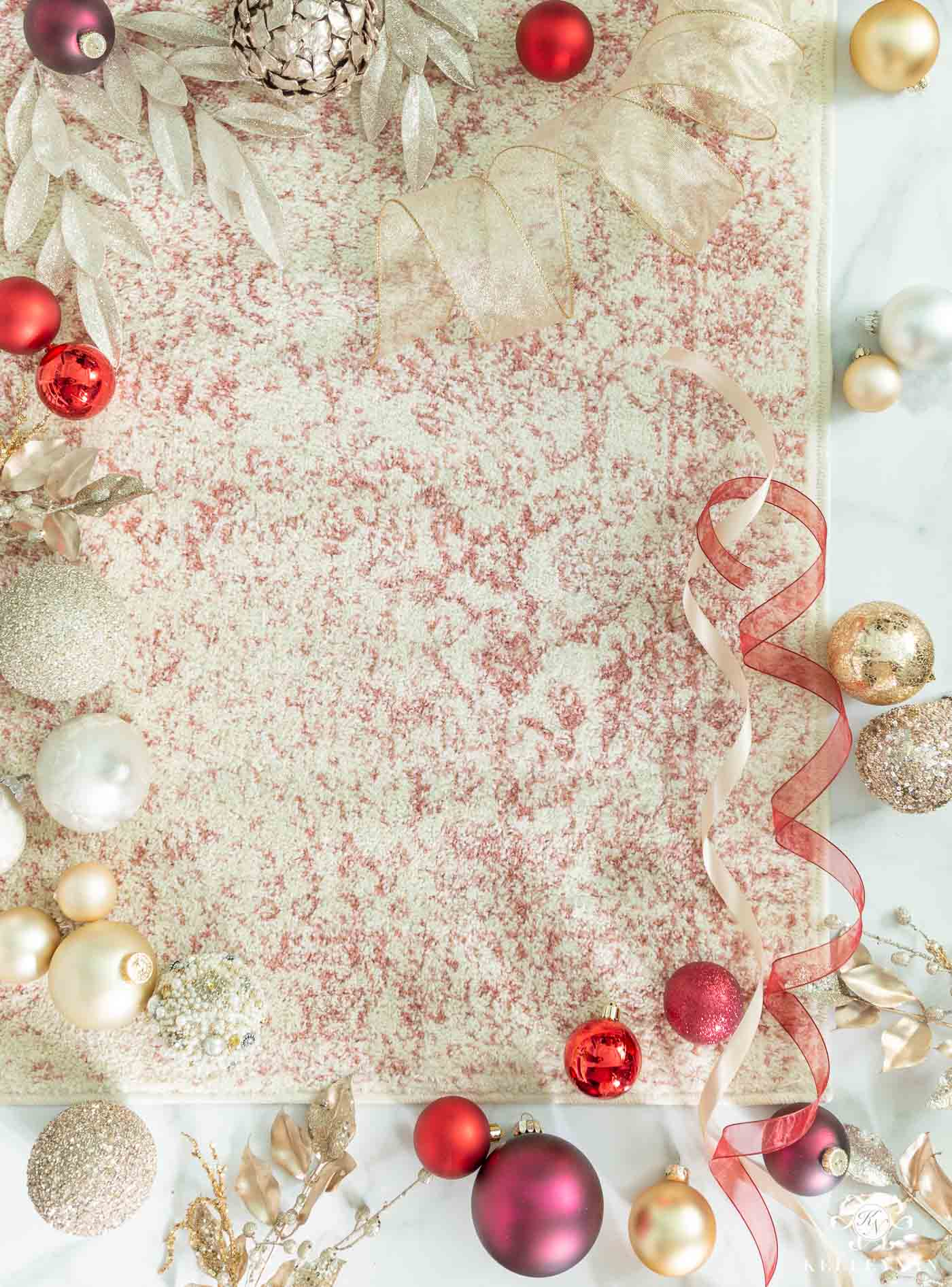 Ideas for Christmas Color Schemes -- with Affordable Coordinating Rugs!
