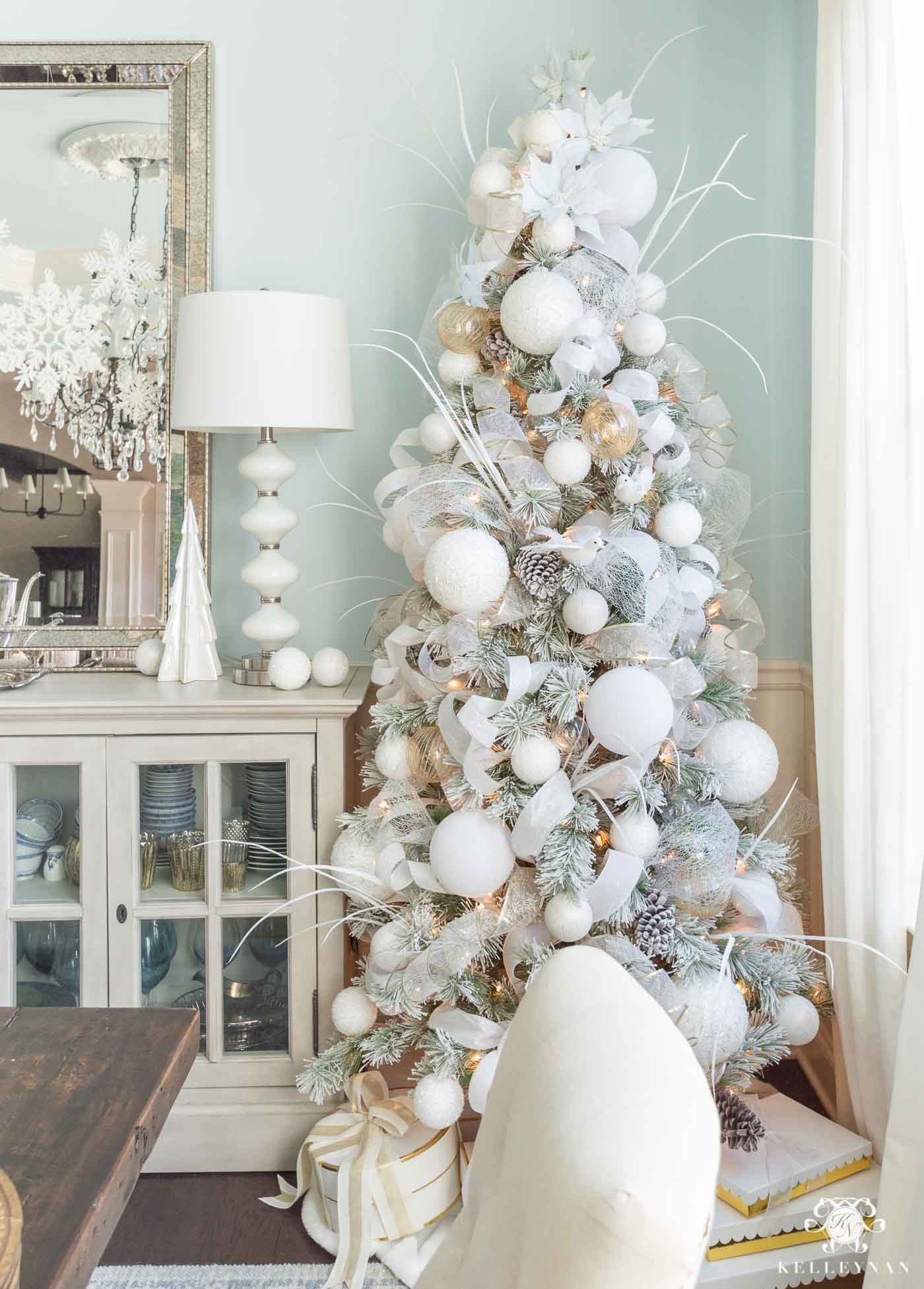 White and Pale Blue Christmas Color Scheme