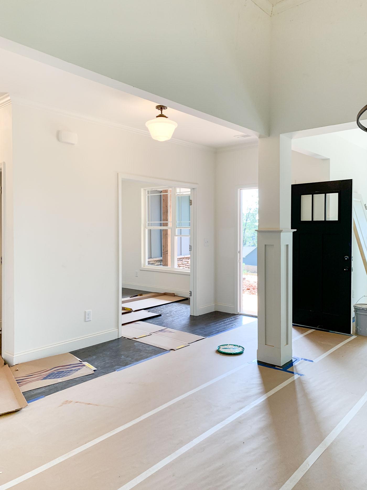 ranch home construction -- entryway