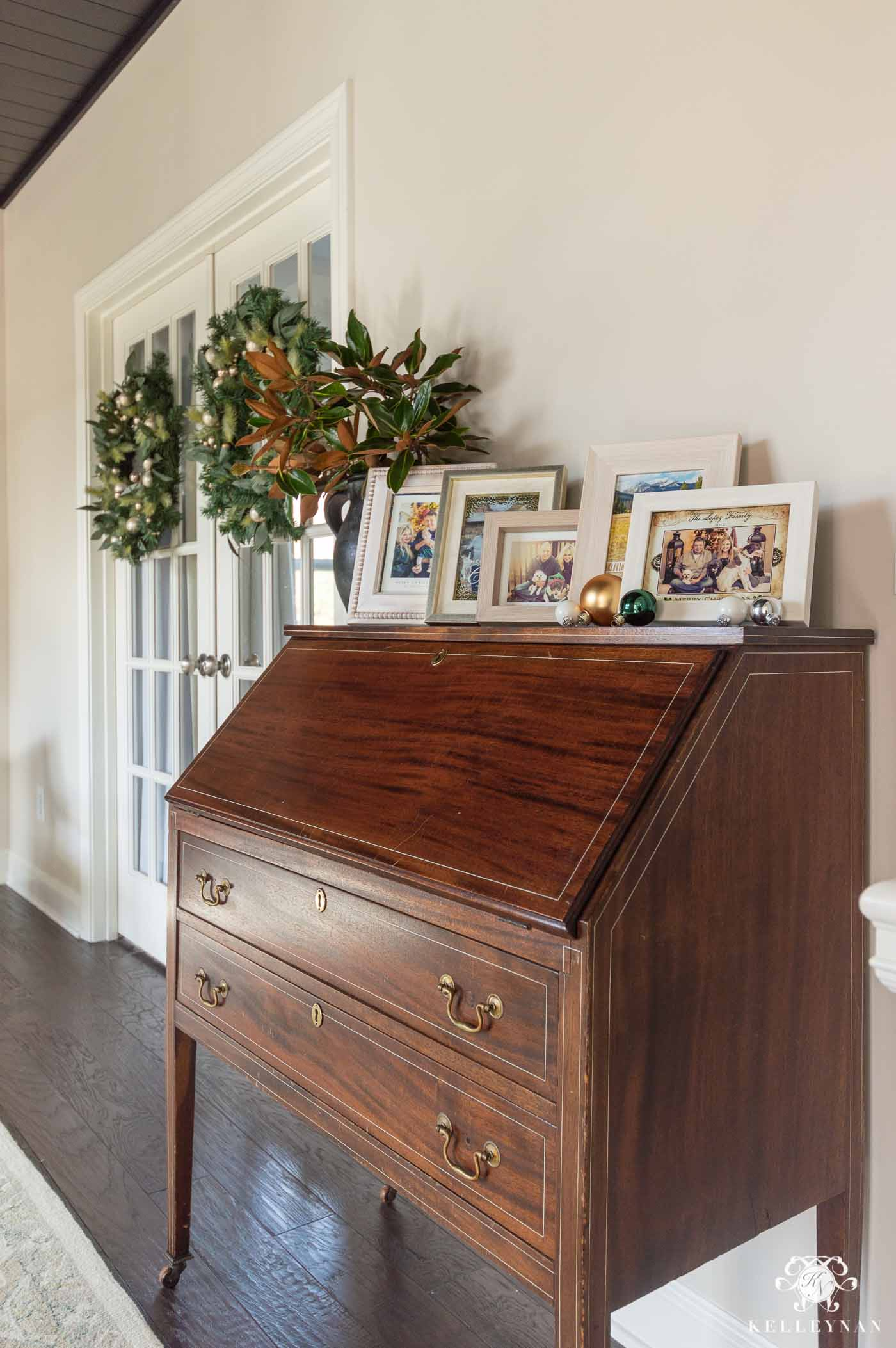 Incorporating Antique Furniture into a Transitional Room