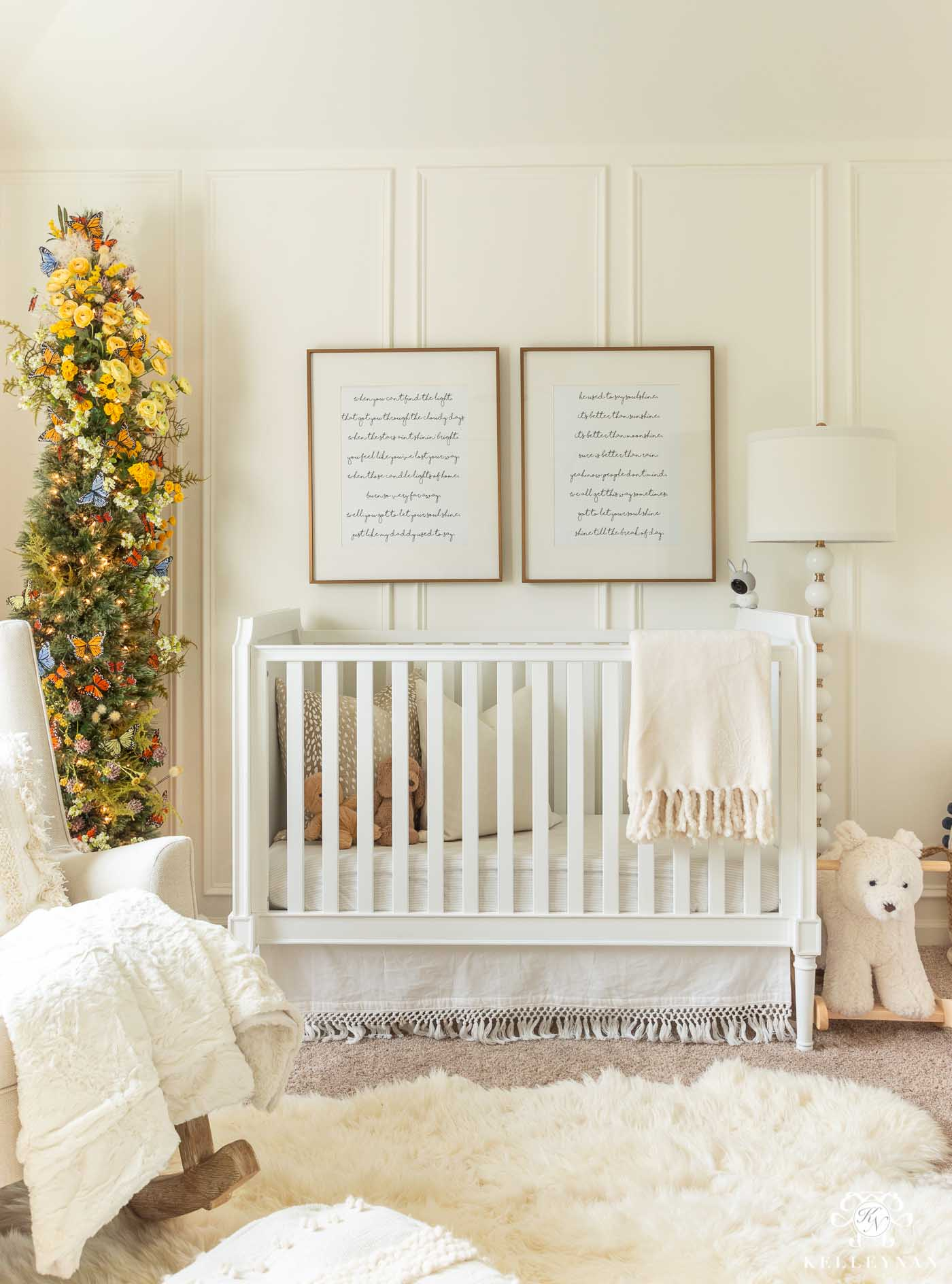 Nursery Christmas Decor with Butterfly Theme