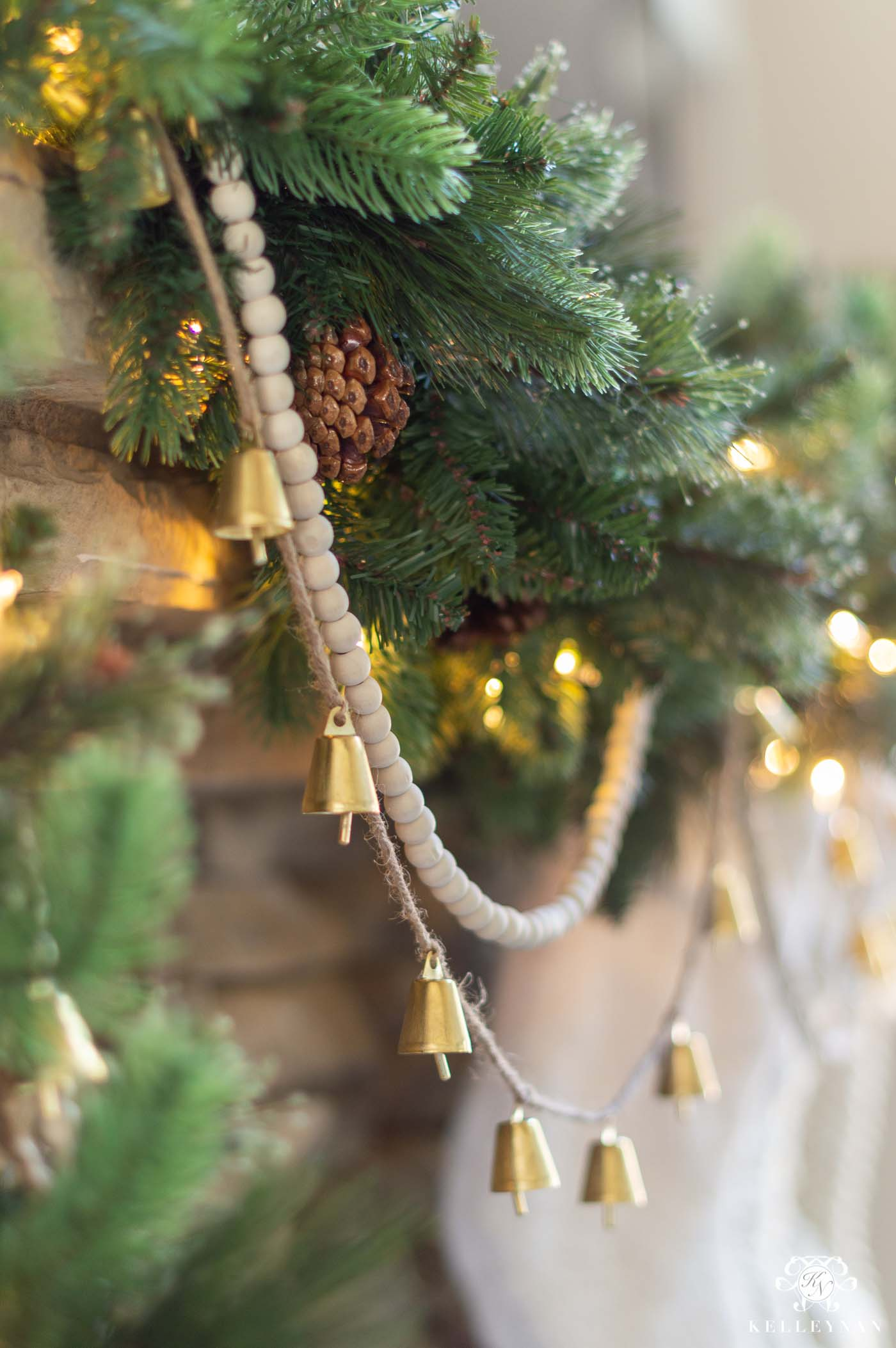 Christmas Garland Embellishments with Bells & Wood Beads and more!