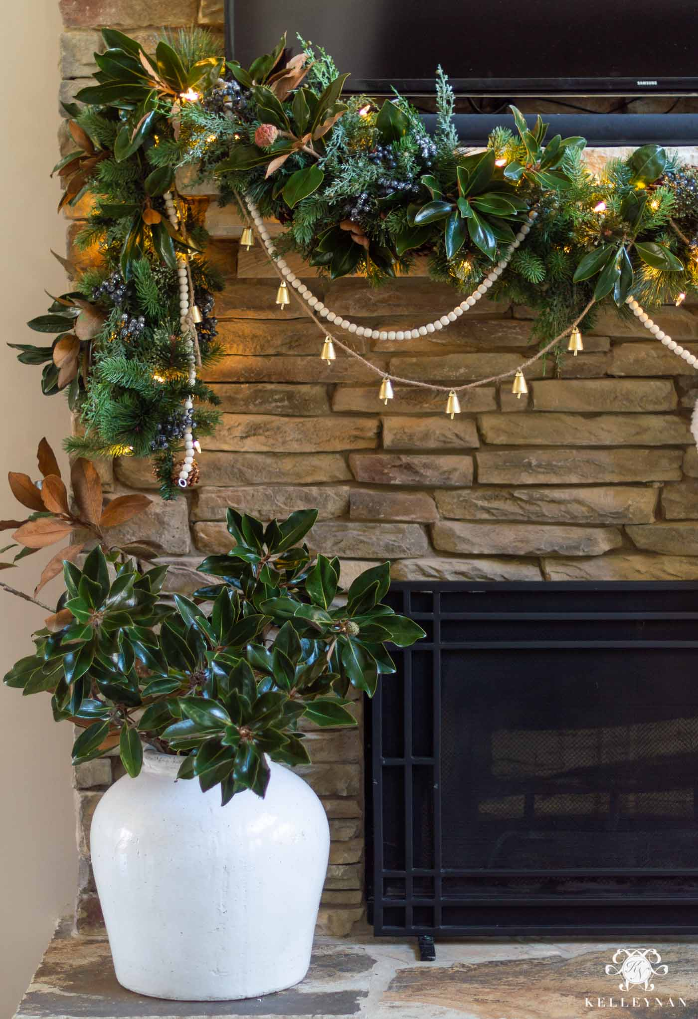 Christmas Mantel Garland -- A Full, Step by Step Tutorial