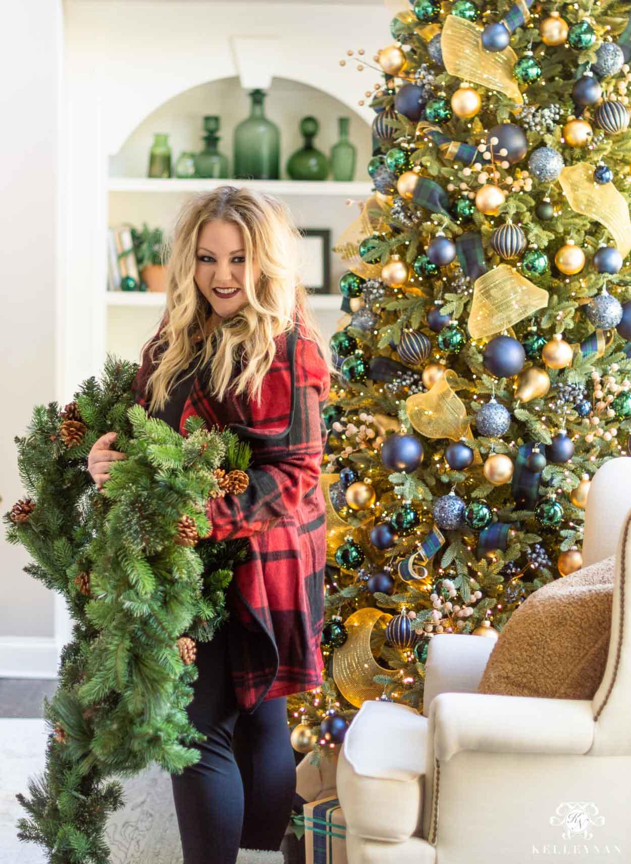Christmas Mantel Garland From Basic To Beautiful Kelley Nan