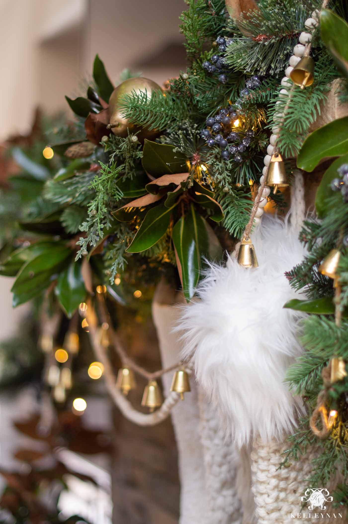 Fireplace Mantel Garland -- A Step by Step Tutorial