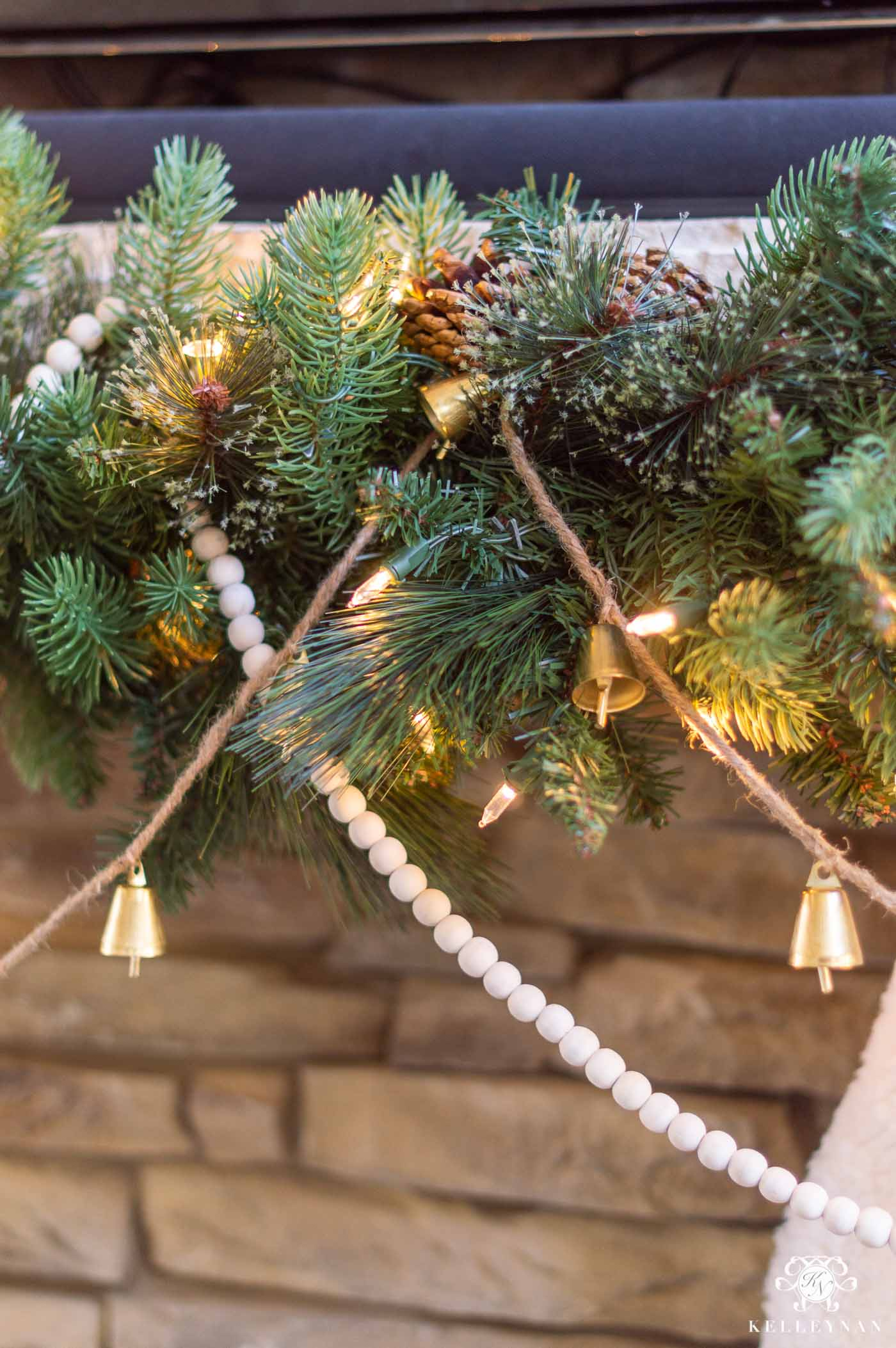 How to Layer Christmas Garlands on the Mantel