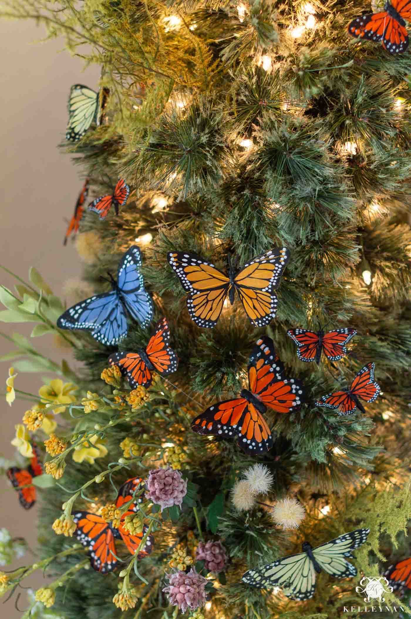 Unique Christmas Decor Theme with Butterflies