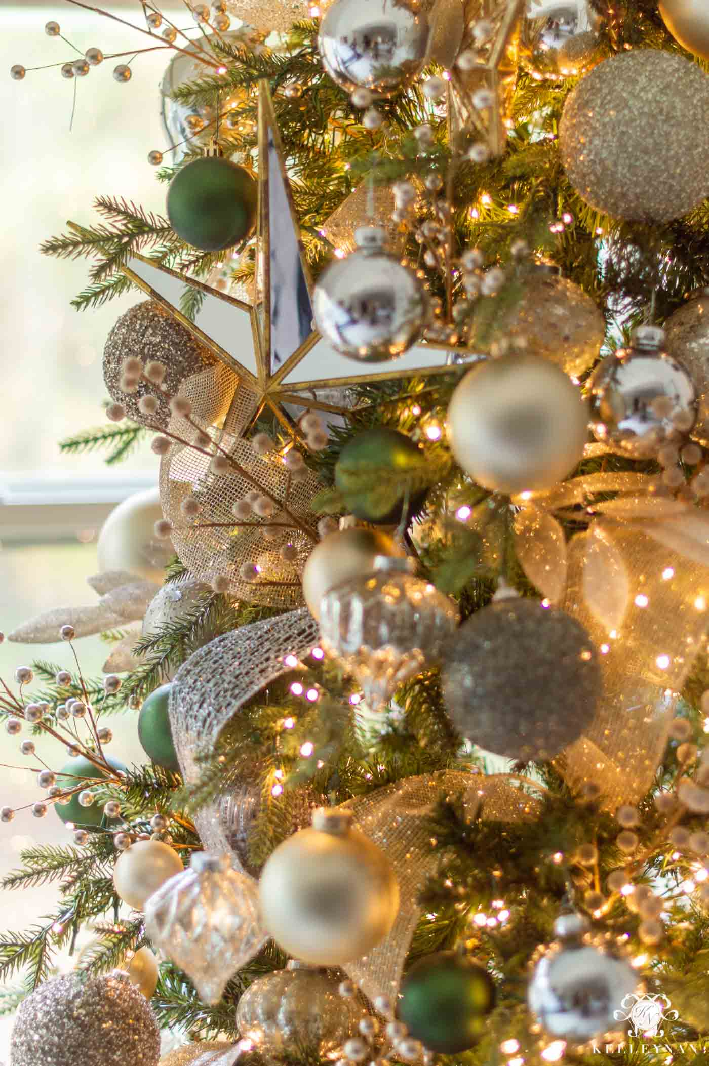 Green and Gold Christmas Tree Color Scheme