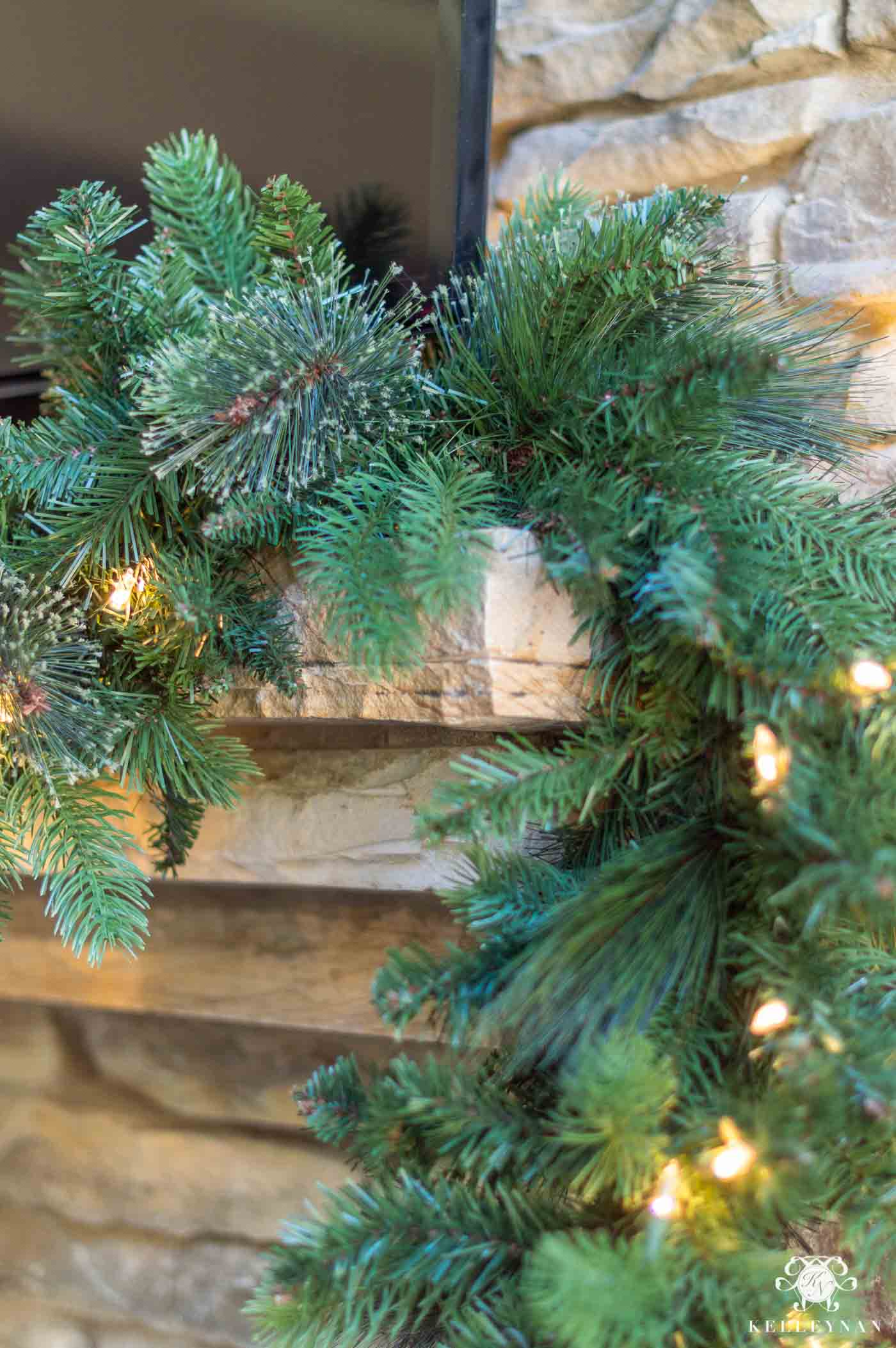 How to Anchor Christmas Garland