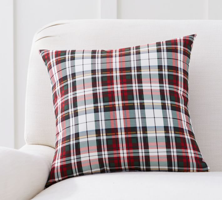 Plaid Christmas Pillows for Front Porch Decor