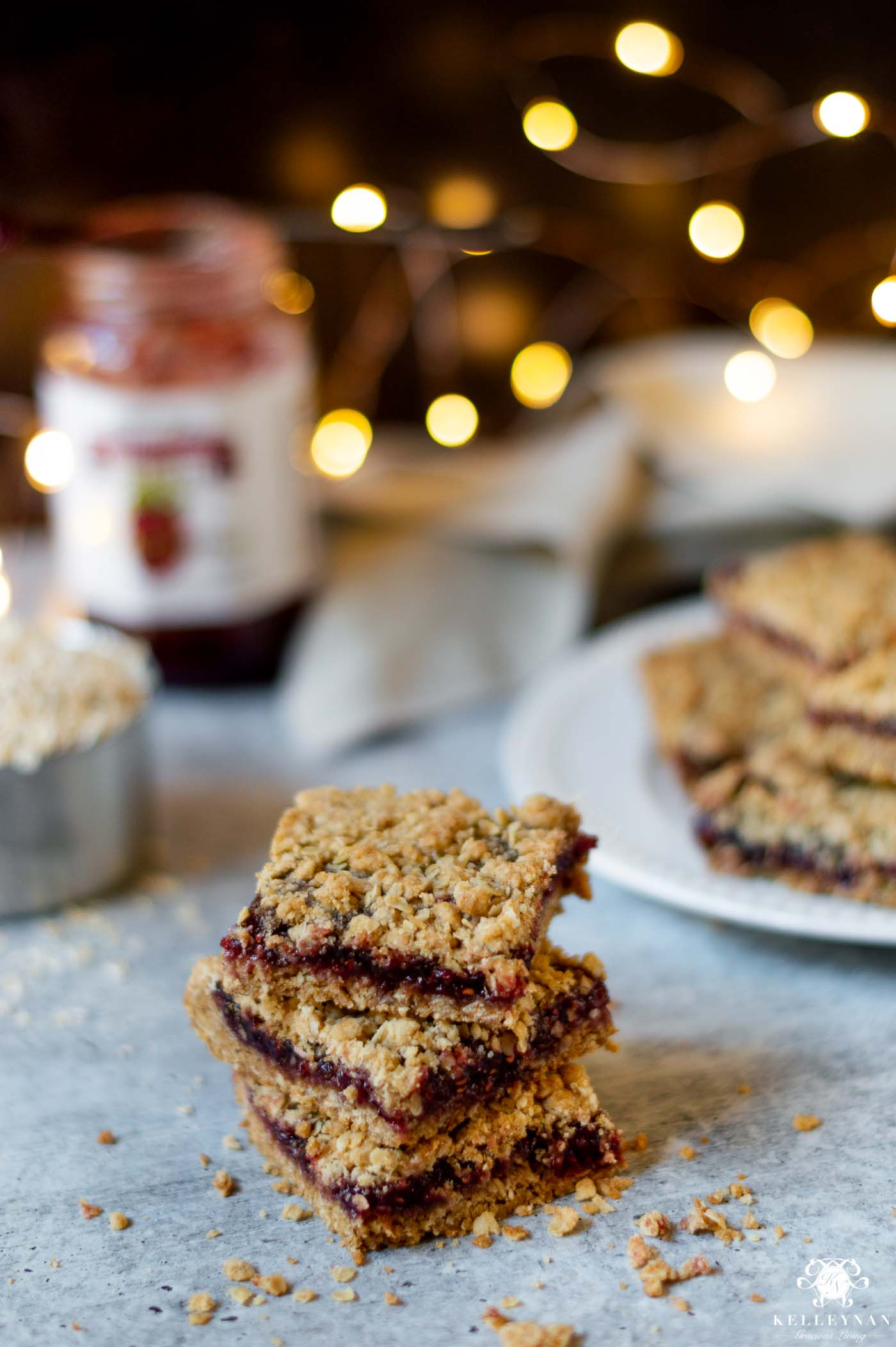 5 EASY Christmas Treats with 5 Ingredients (or less!) Raspberry Oatmeal Bars are Delish!
