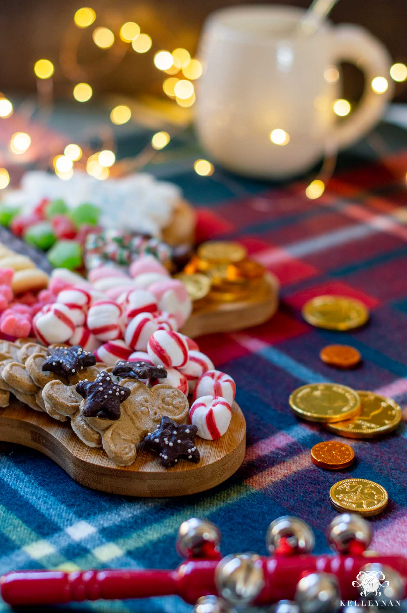Night Before Christmas Santa and Reindeer Charcuterie Boards