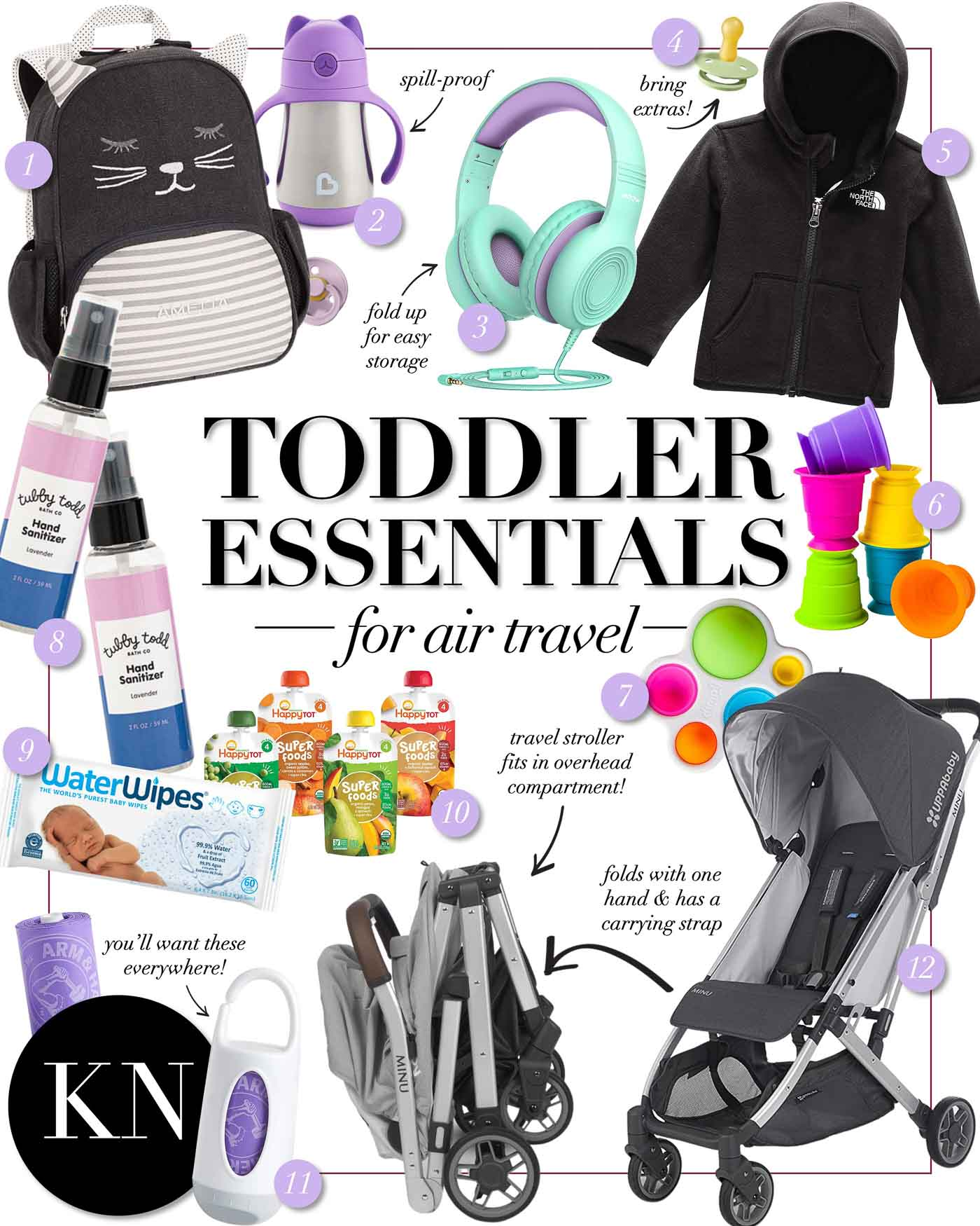 12 Airplane Travel Essentials for Toddlers