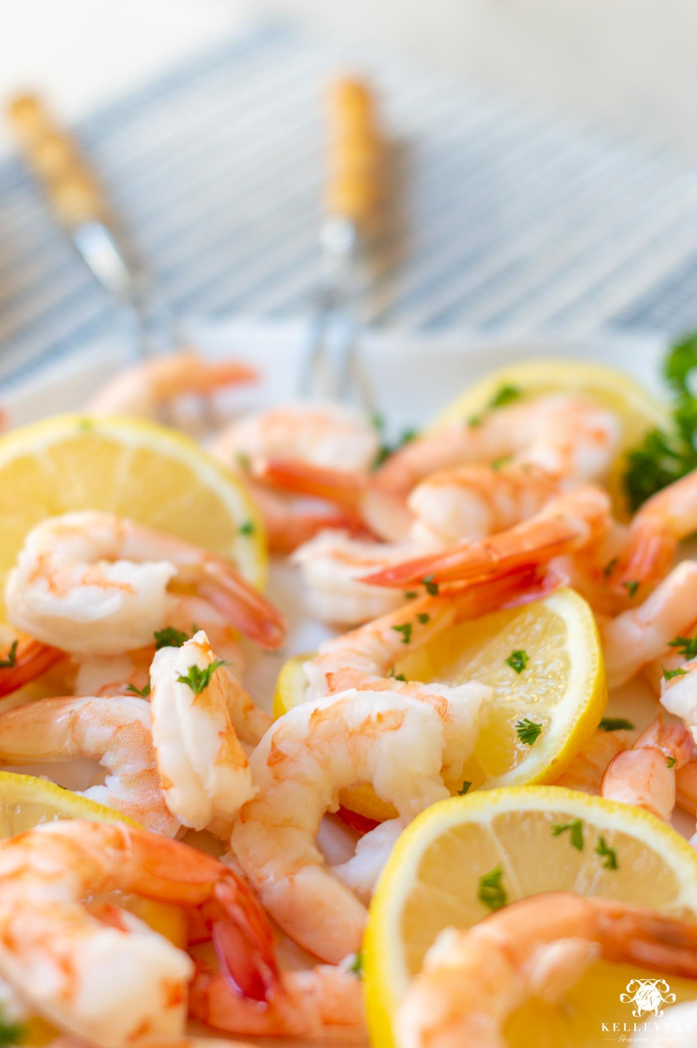 Pretty Shrimp Charcuterie Board Idea