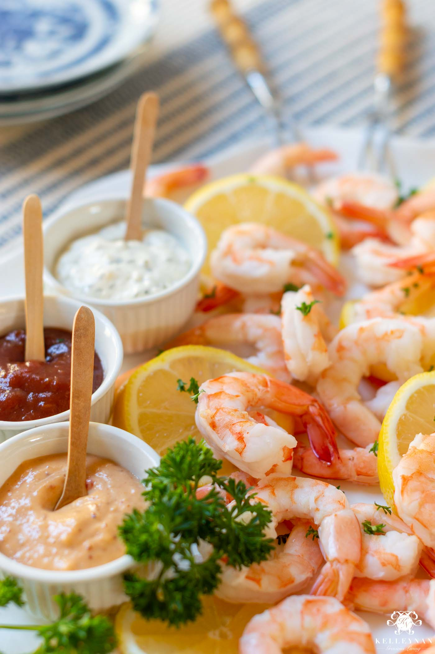 Pretty Shower Foods -- Shrimp Charcuterie Board