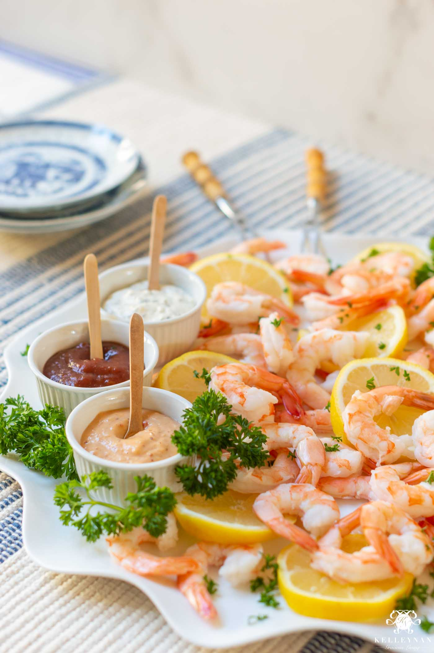 The Prettiest Shrimp Platter for Your Next Shower or Party