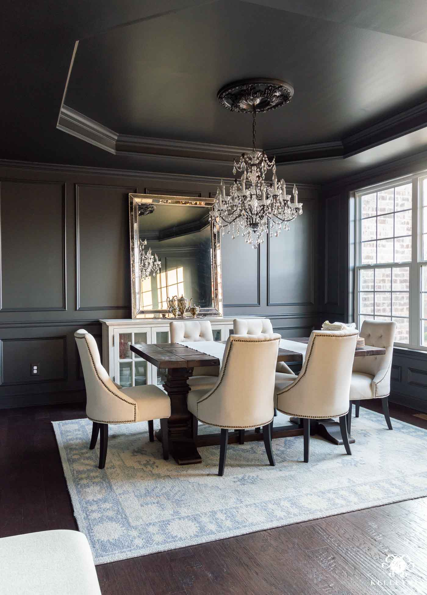 Black Dining Room Makeover Plan