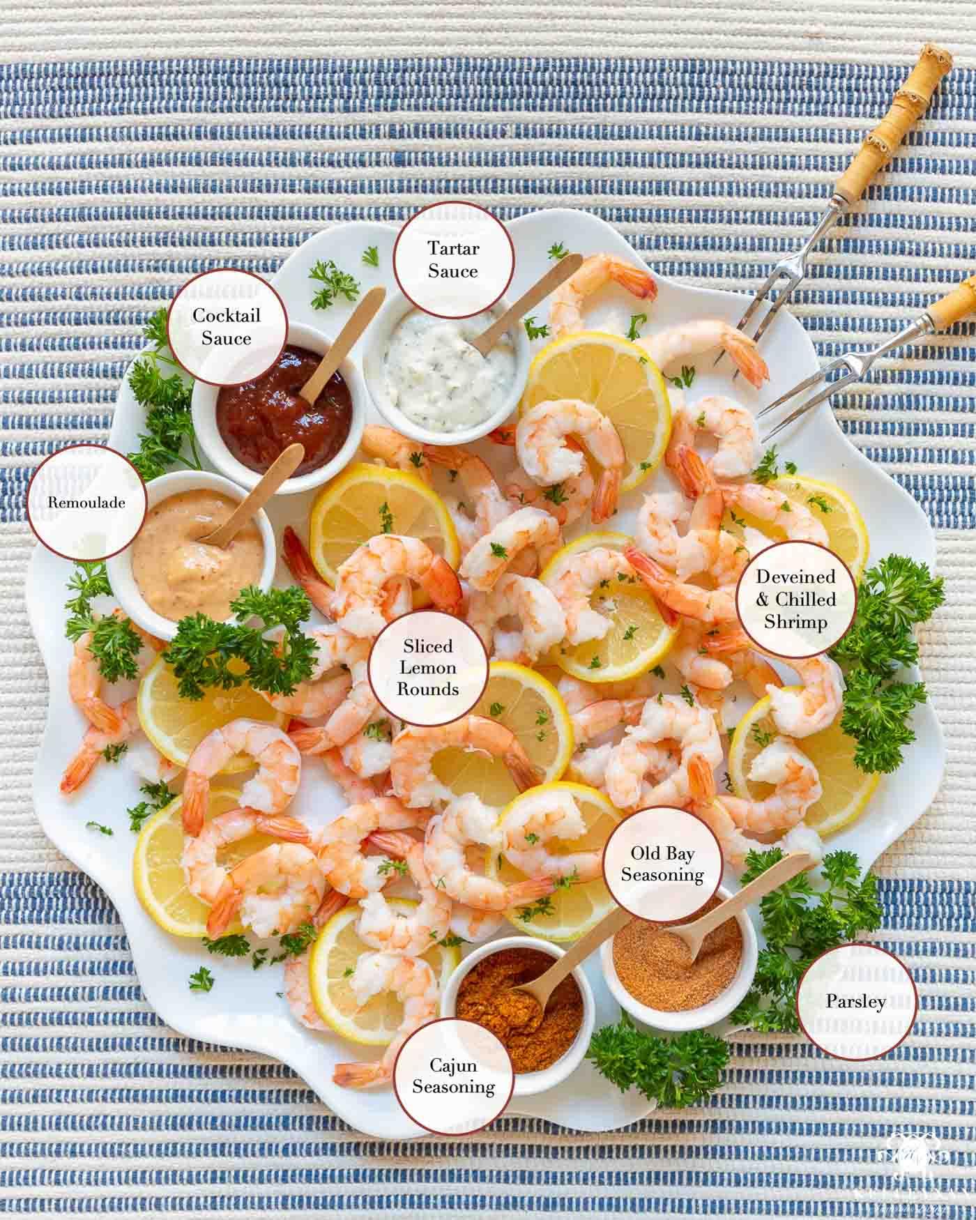 Shrimp Party Platter Charcuterie Board Idea