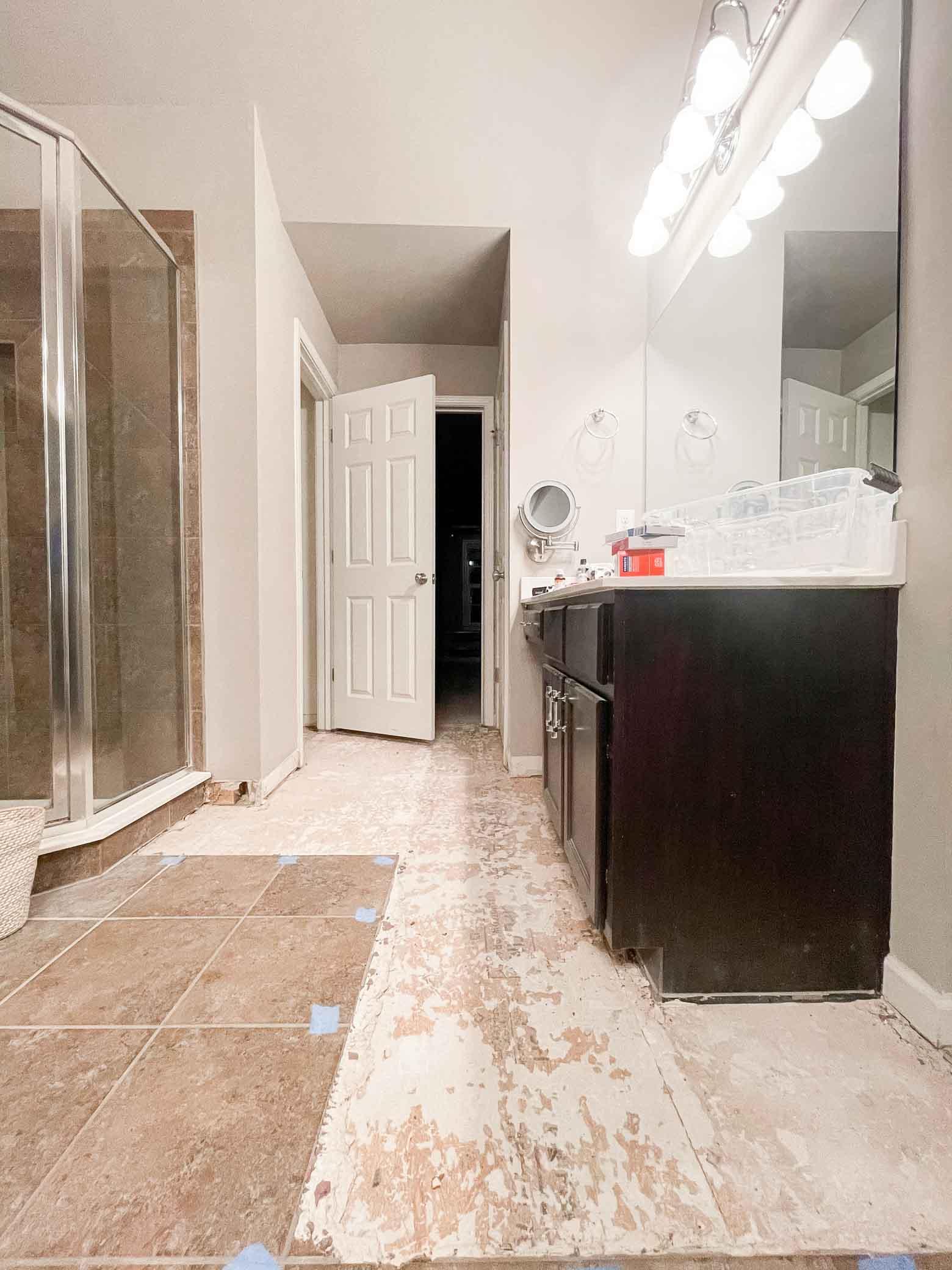 Flooded Bathroom Plans