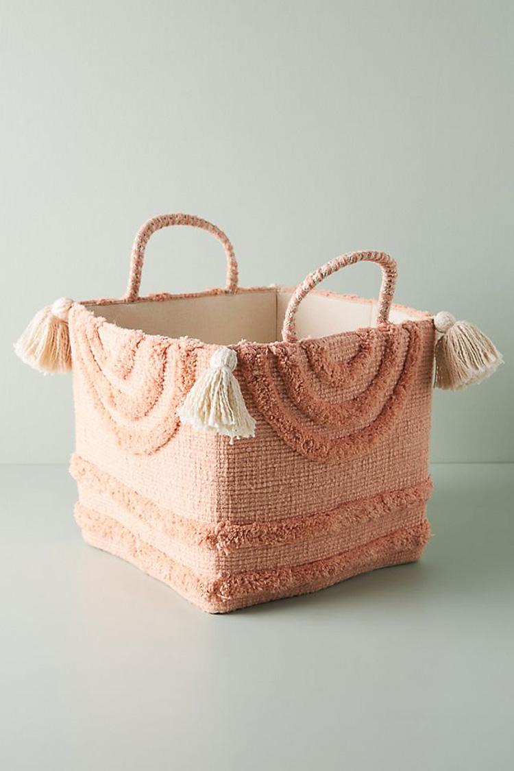 Cute playroom storage baskets