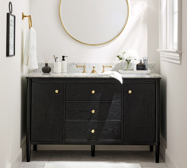 Pottery Barn Black Bathroom Vanity