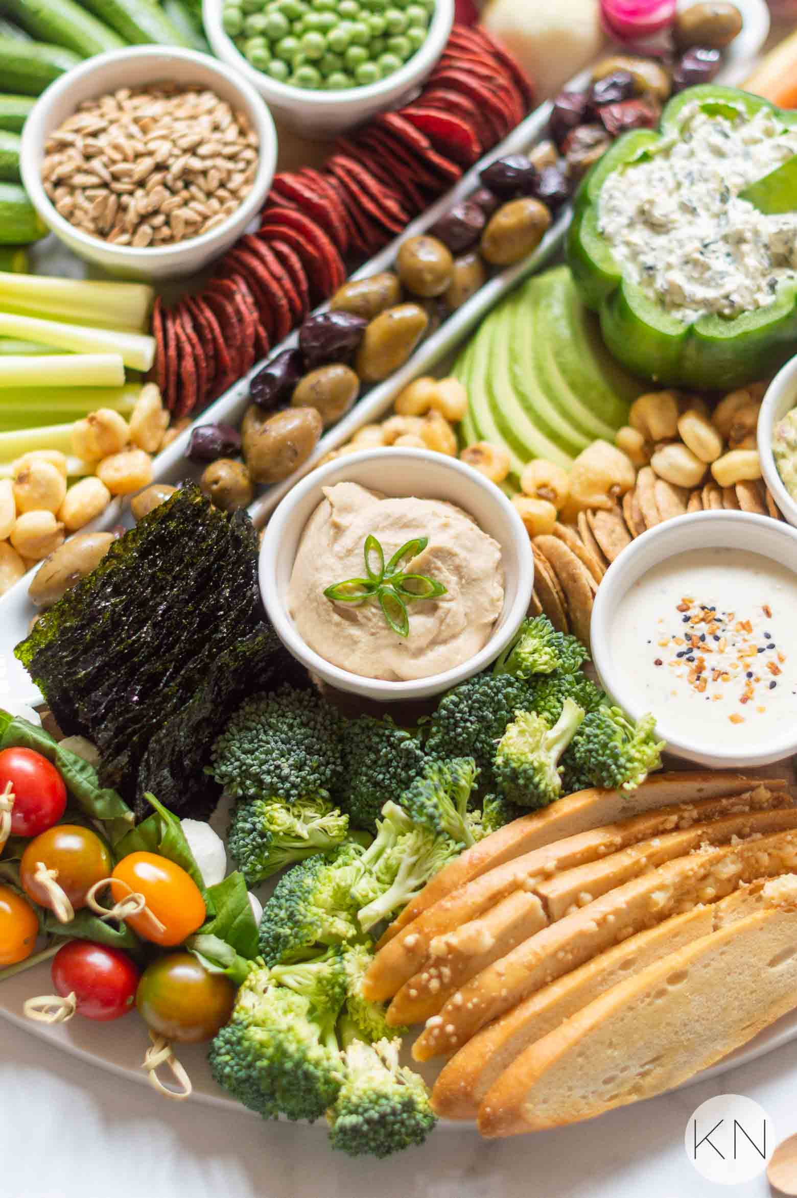 Veggie Board Ideas with all the Toppings and Dips!