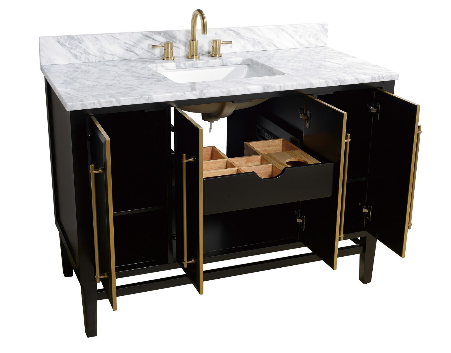 "48""-55"" Single Sink Vanities with Storage"