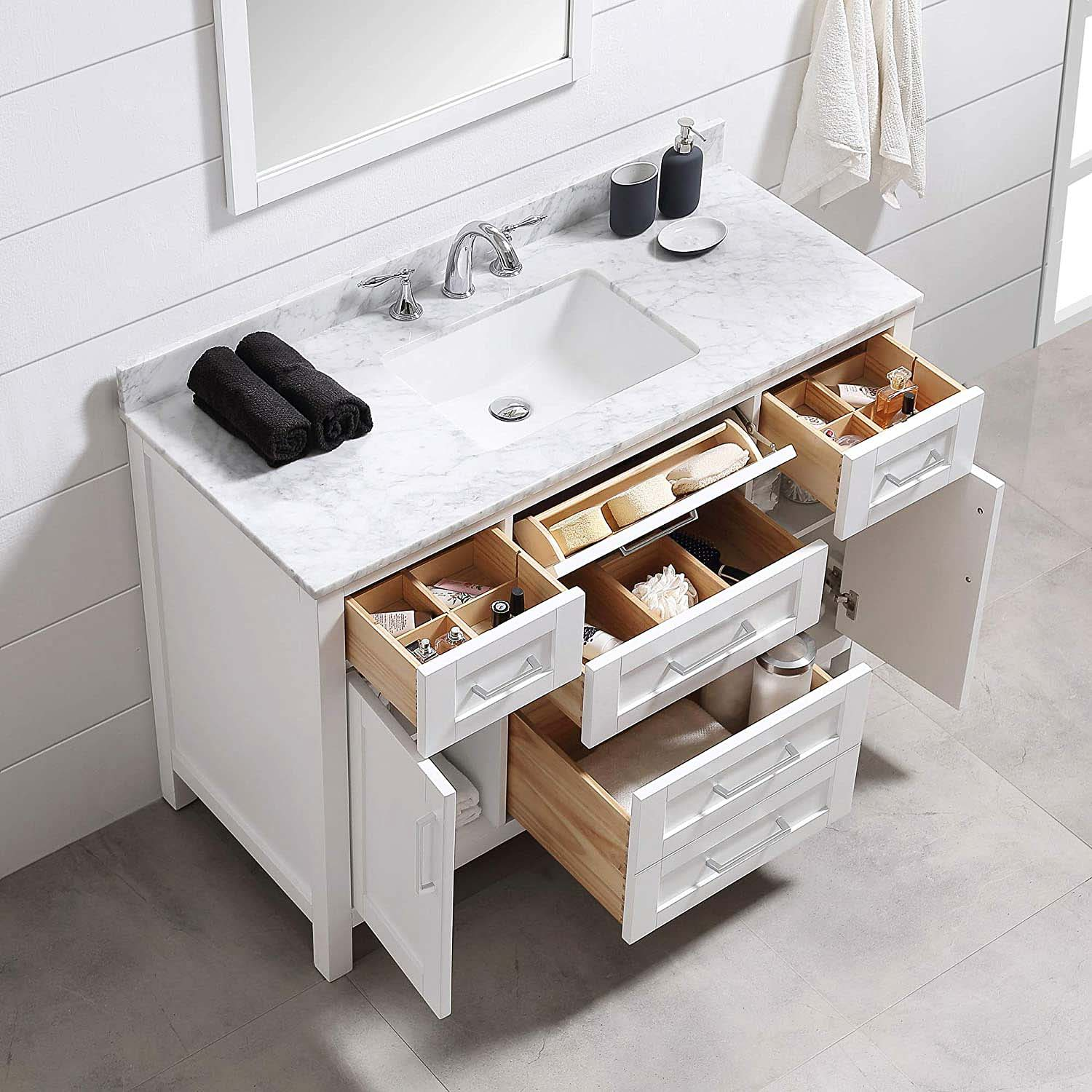 "Pretty 48"" Bathroom Vanities with Lots of Storage"