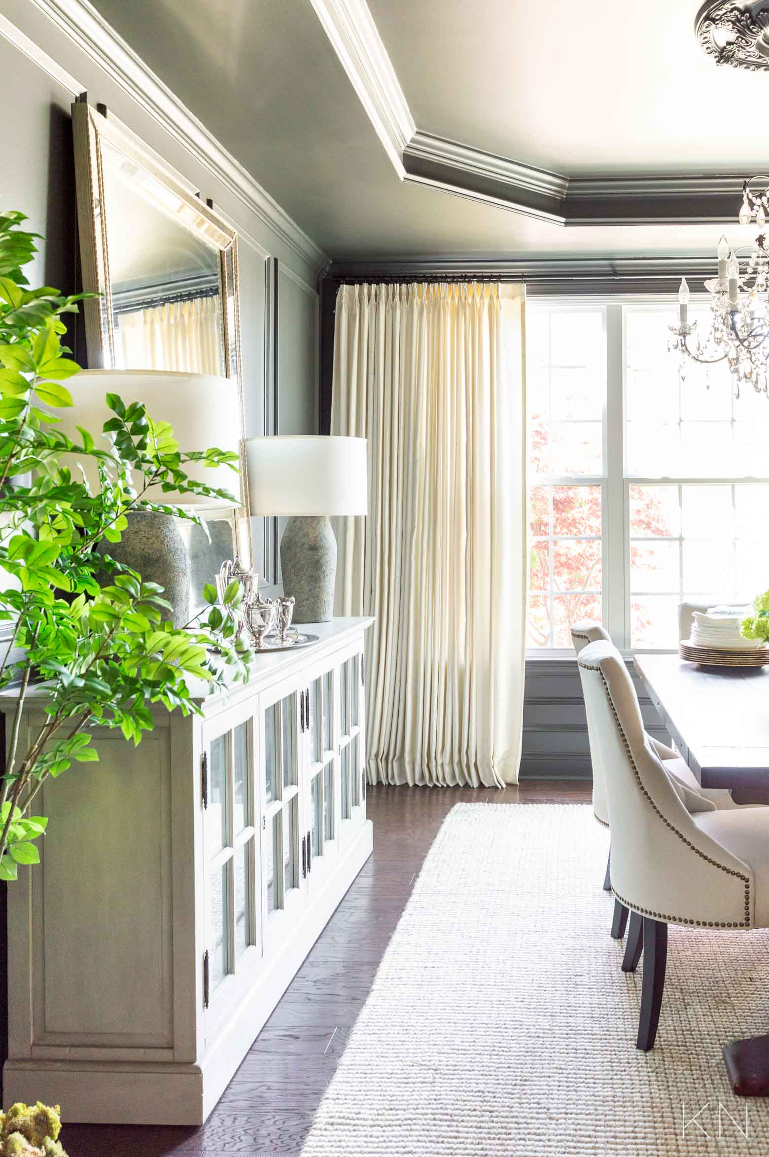 Favorite Custom Pleated Drapes for the Dining Room