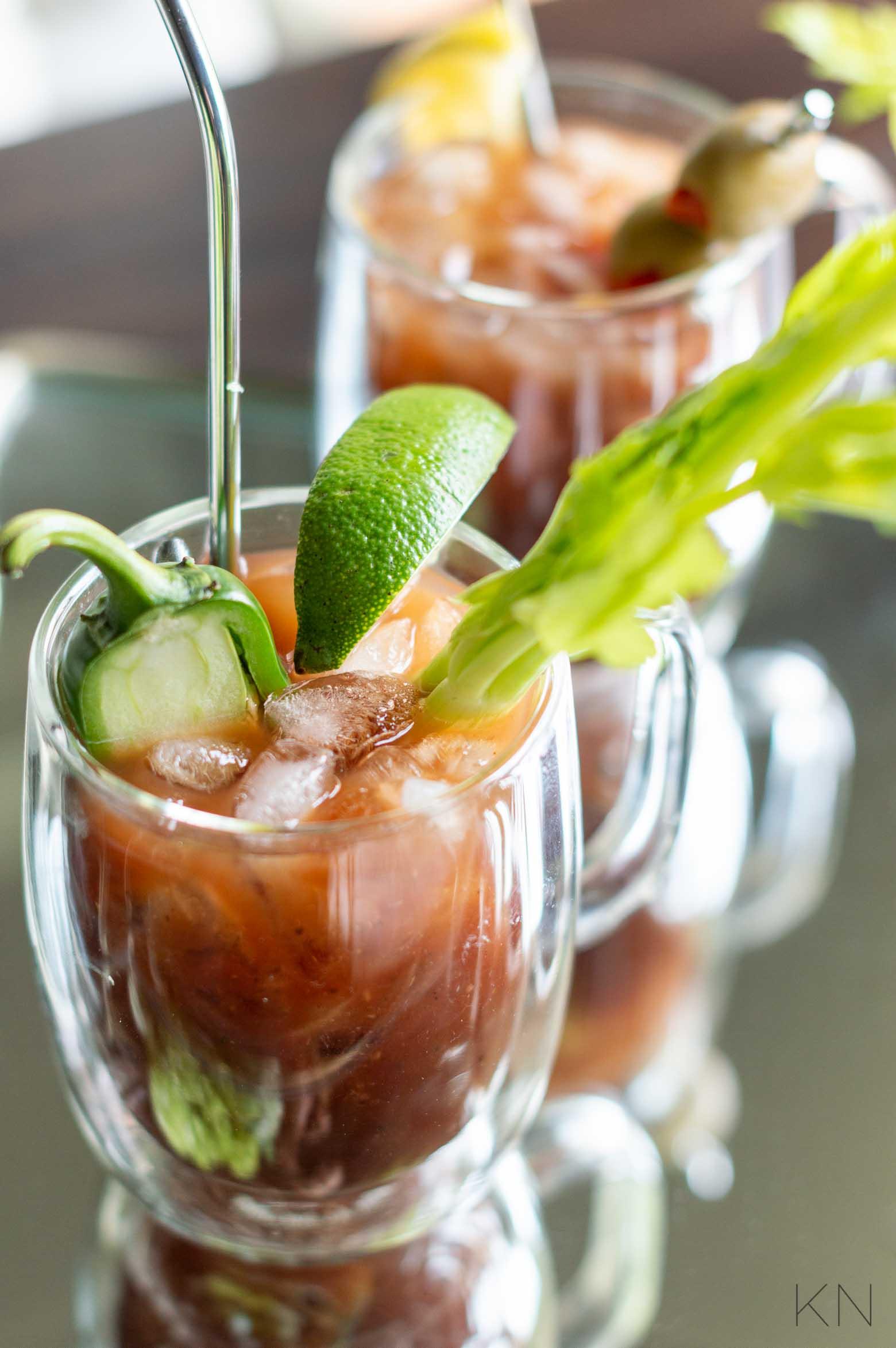 The Best Bloody Marys w/ Accompaniments