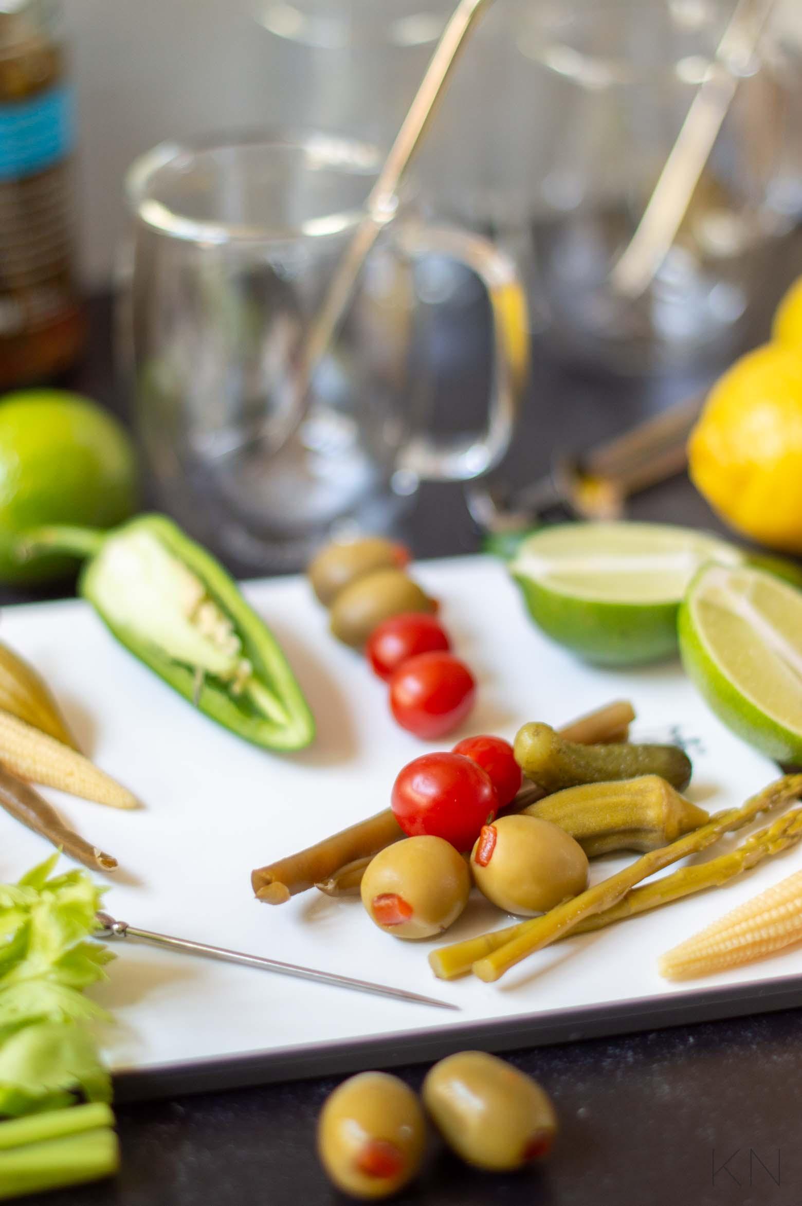 Garnish Ideas for Loaded Bloody Marys