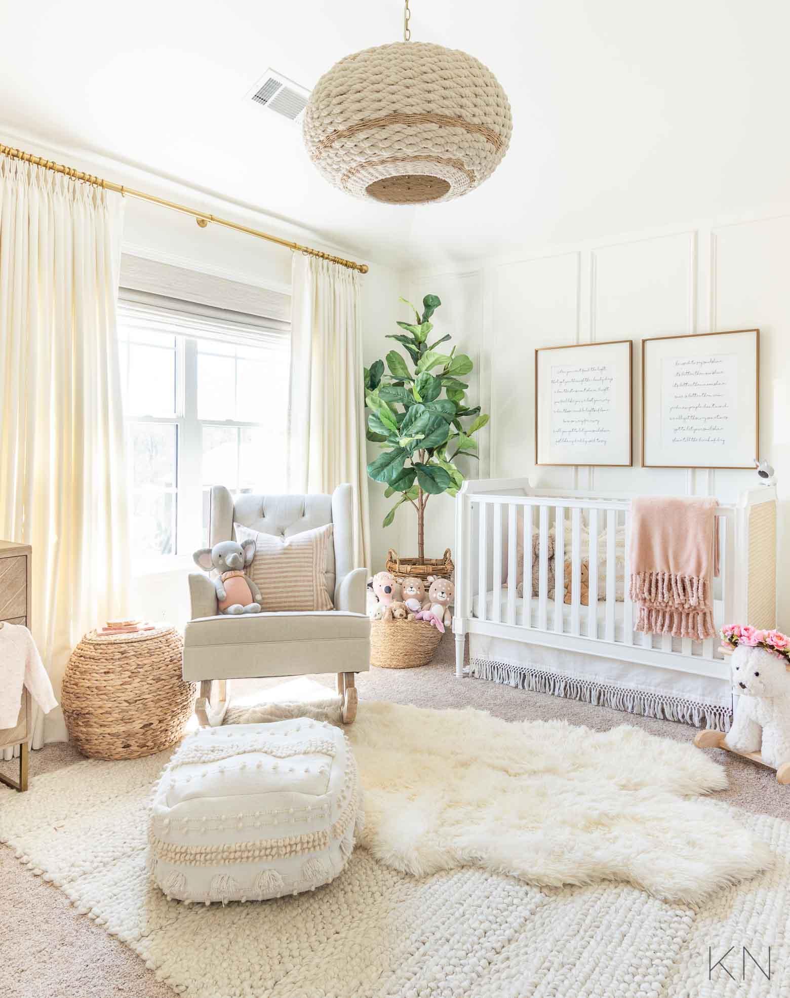 Blush Nursery Decor and Ideas for Pink Baby Girl Nursery
