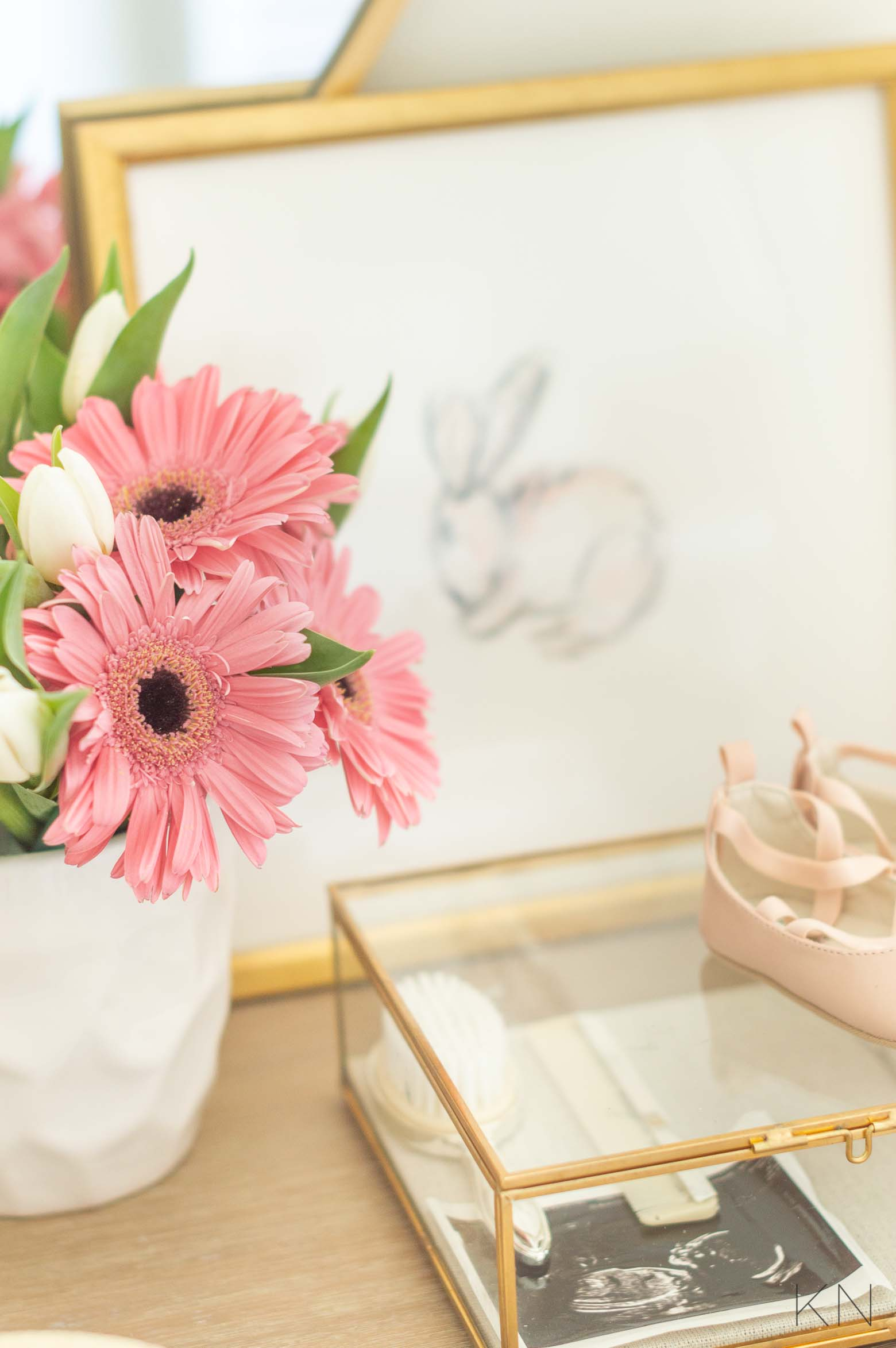 Pink Nursery Dresser Art