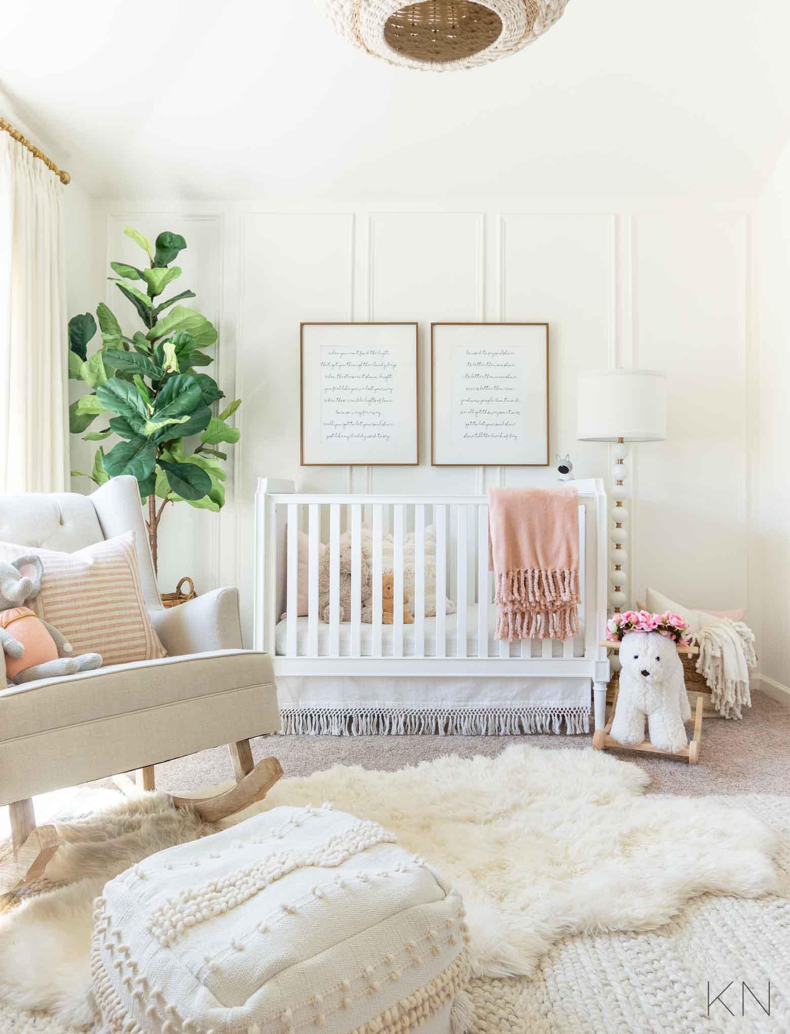 Blush Baby Nursery and Pink Girl Decor