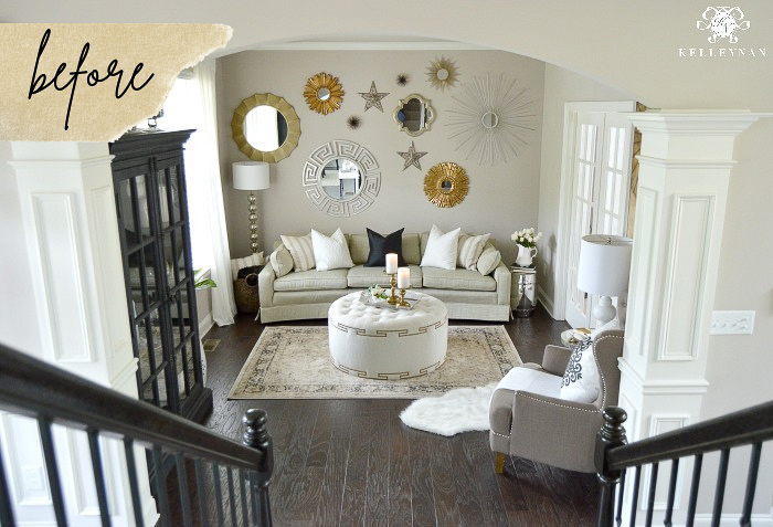 Before & After -- Formal Living Room Turned Conversation Room Reveal!