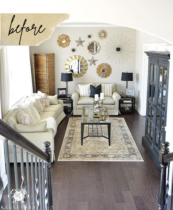 Makeover Reveal: Before & After of a Formal Living Room Turned Conversation Room