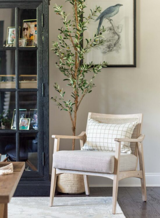 Formal Sitting Room Reveal- A Casual, Transitional Conversation Room