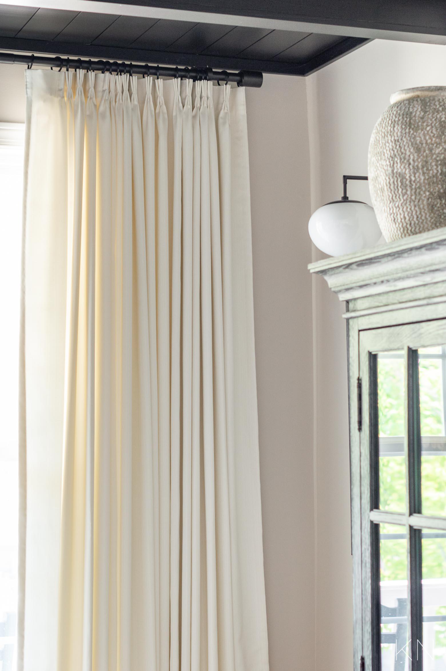 Modern West Elm Curtain Rod -- Best Extra Long Sleek Curtain Rod for Custom Drapes