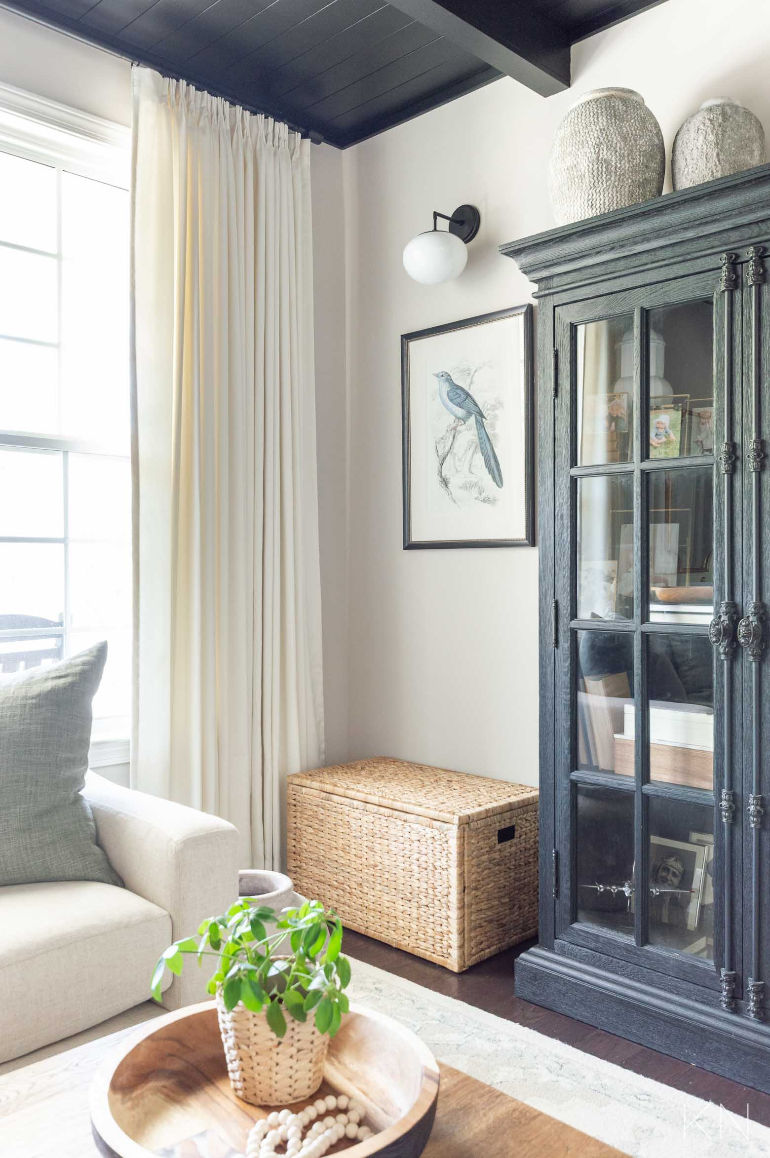 Conversation Room Reveal- Custom Pleated Drapes for a Dramatic Room Statement