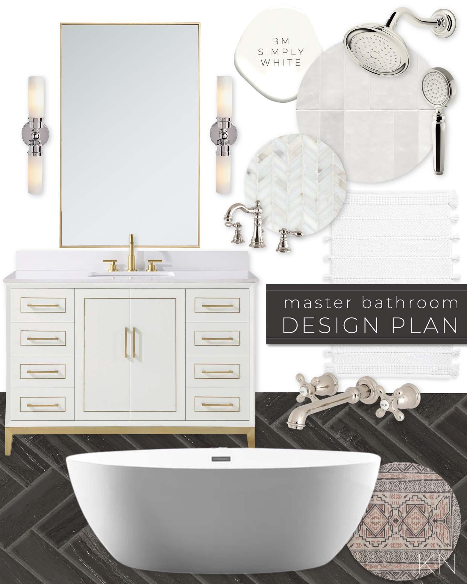 Elegant Transitional Bathroom Design Plan and Decor Ideas