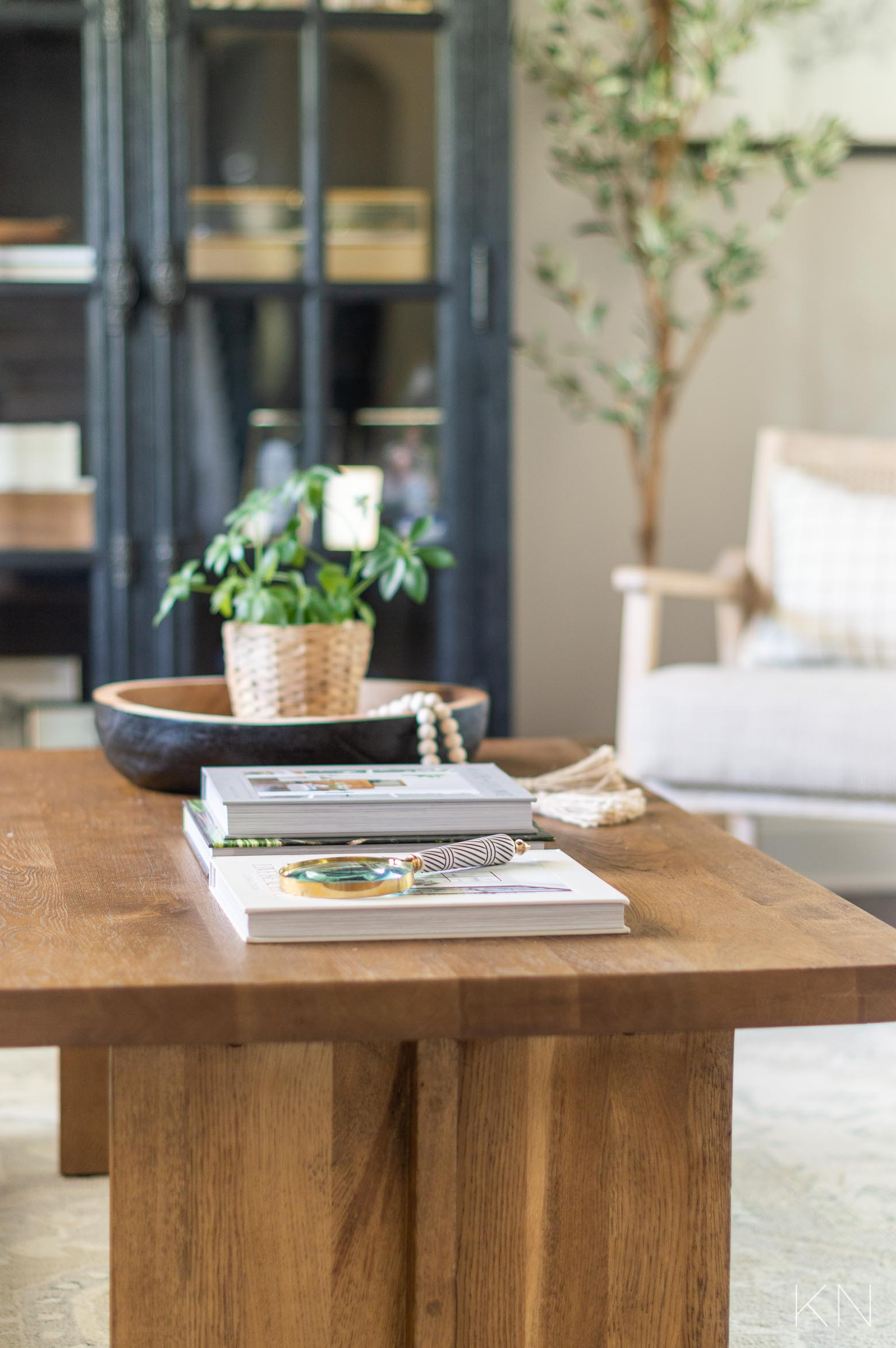 Styling a Small Coffee Table + Full Room Makeover Reveal