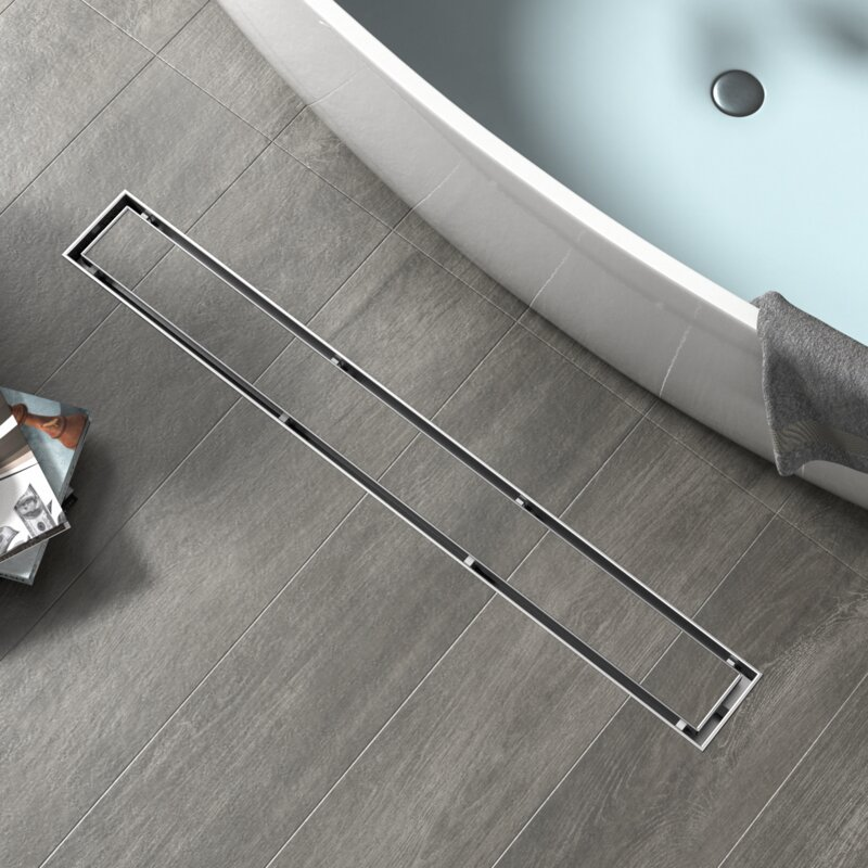 Shower Features- Camouflaged Linear Shower Drain