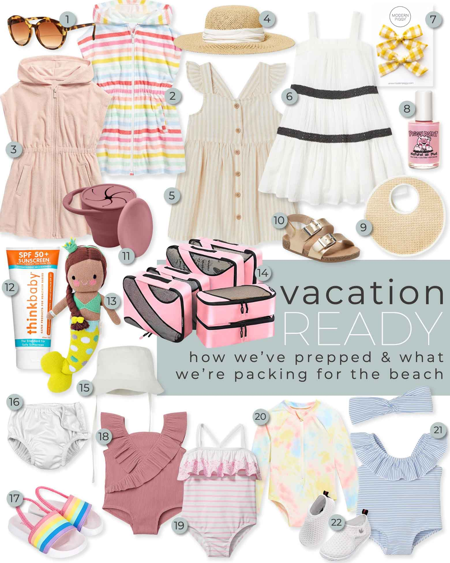 Toddler Girl Beach and Vacation Fashion Looks & Essentials