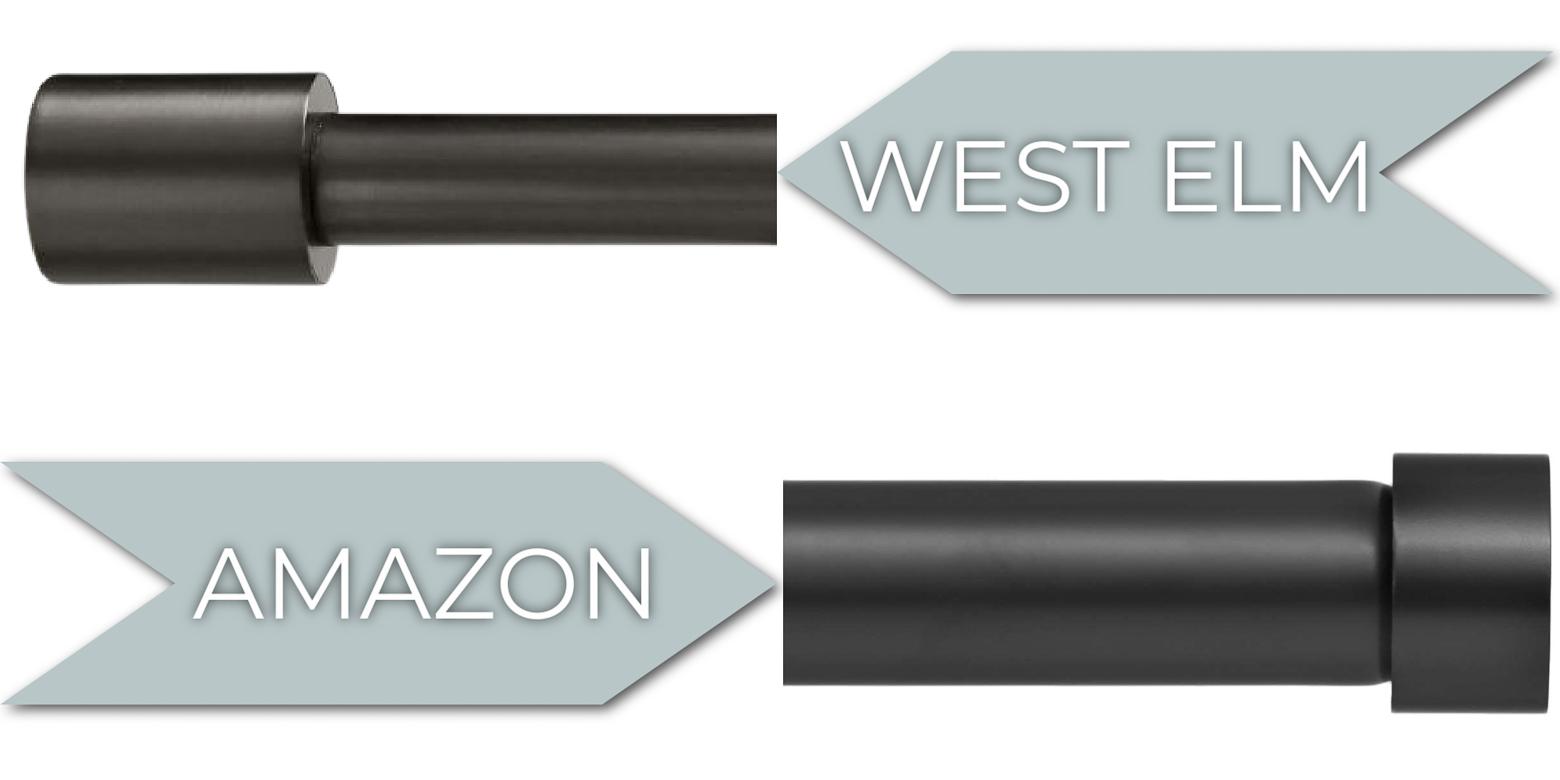 Amazon vs. West Elm Modern Curtain Rod Comparison
