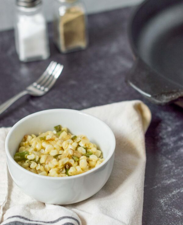 Easy Summer Side Dish! Sauteed Corn with Peppers and Onions
