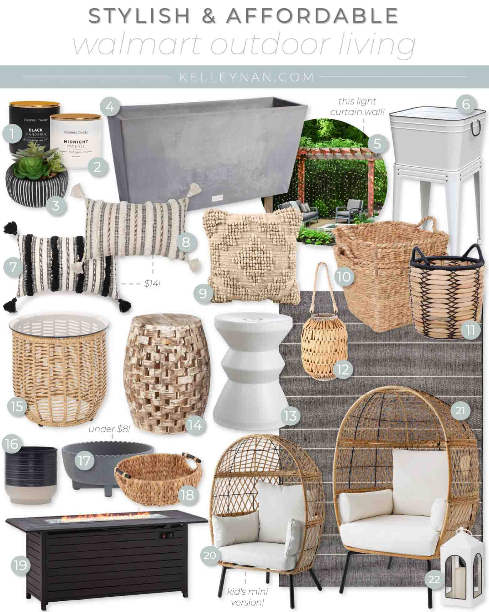 Walmart Outdoor Living and Affordable Decor