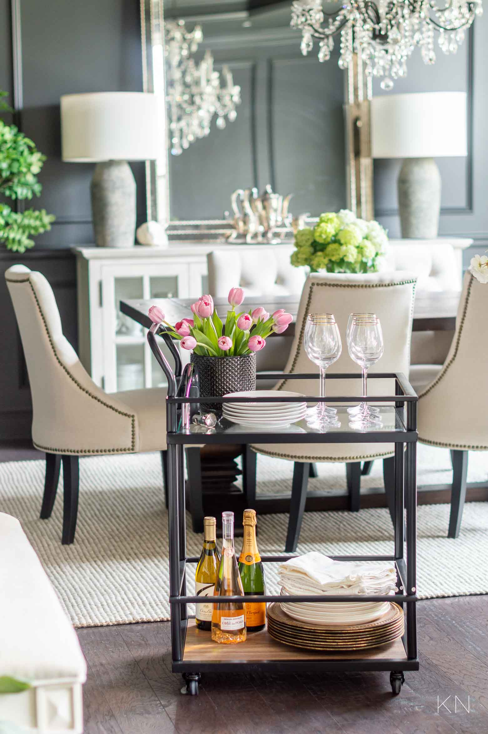 Tons of Bar Cart Ideas & Ways to Use Them Around Your House