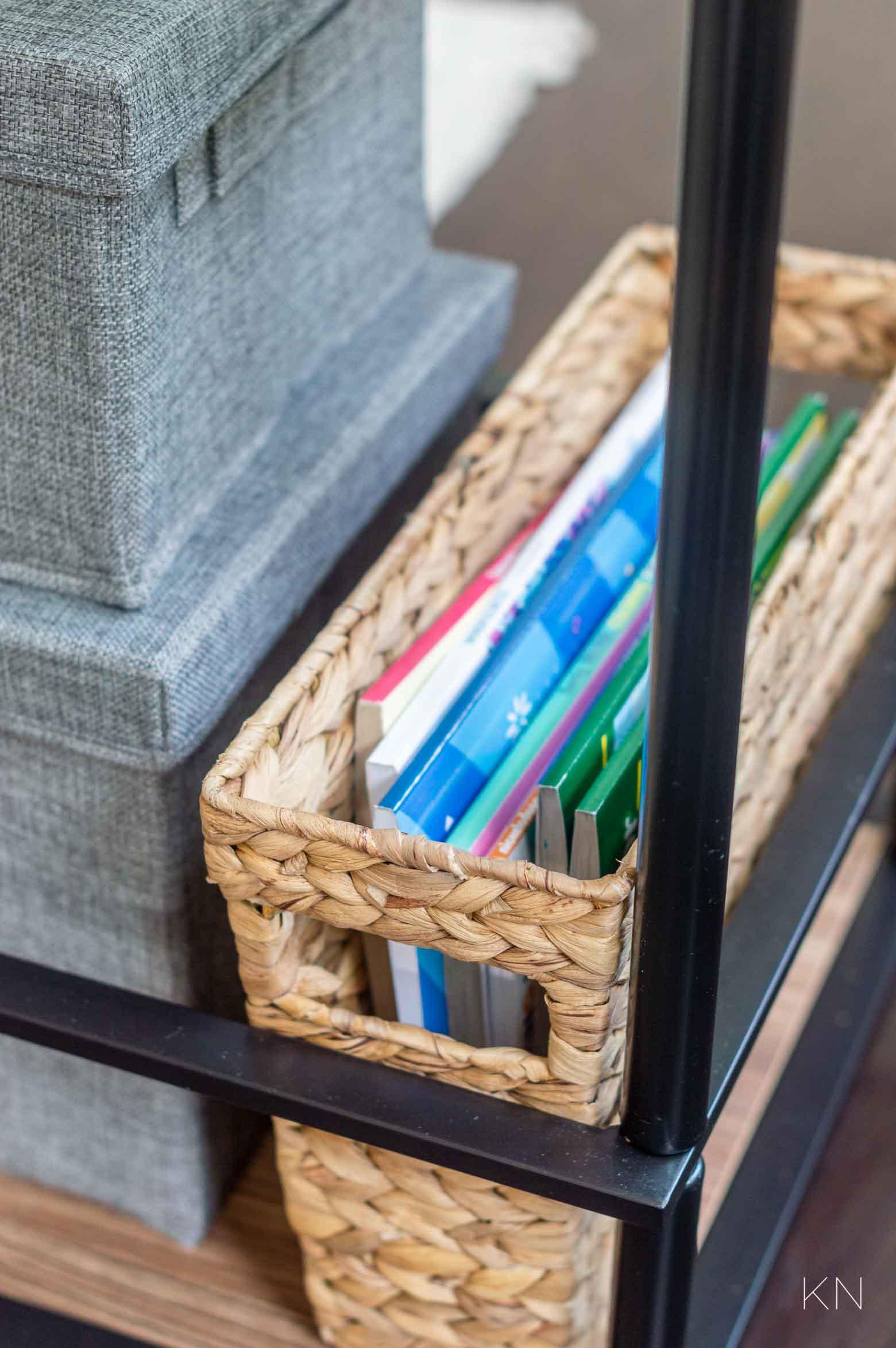 Using a Bar Cart for Kids Art Supplies & Storage